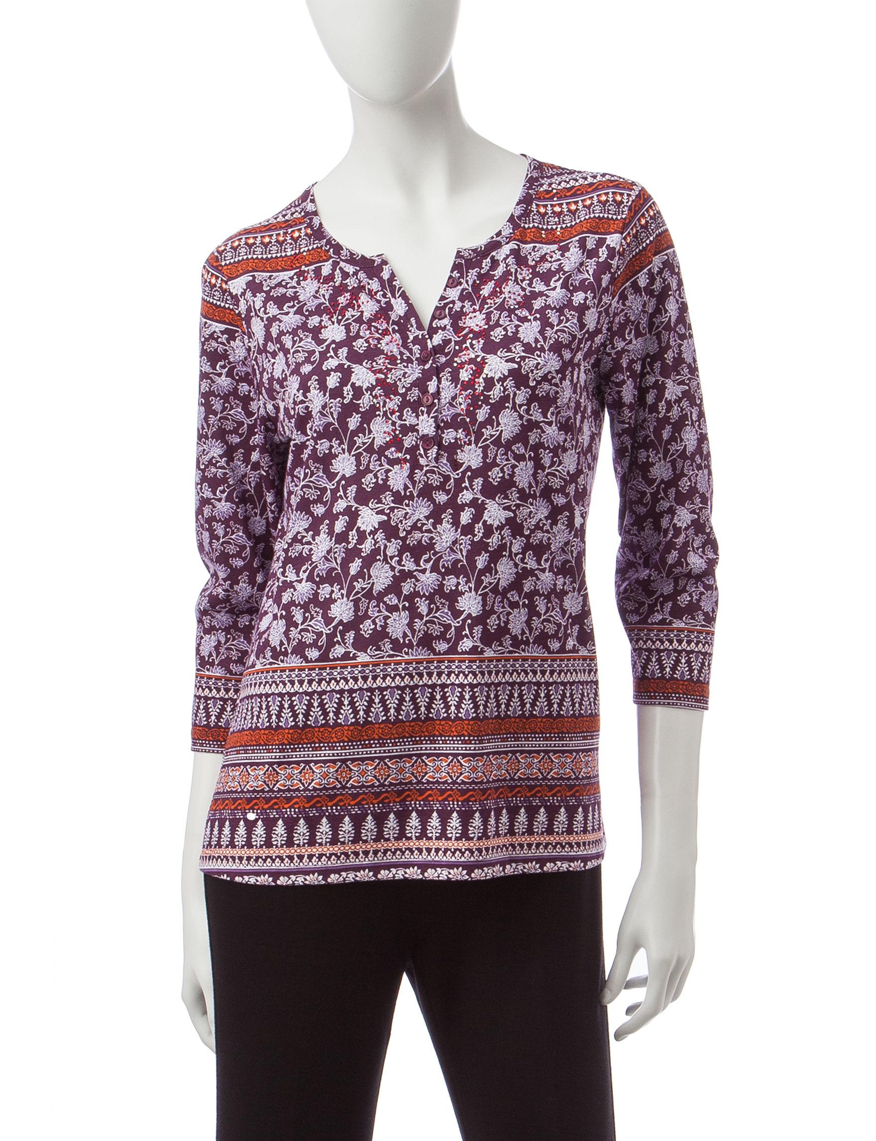 Rebecca Malone Maroon Shirts & Blouses