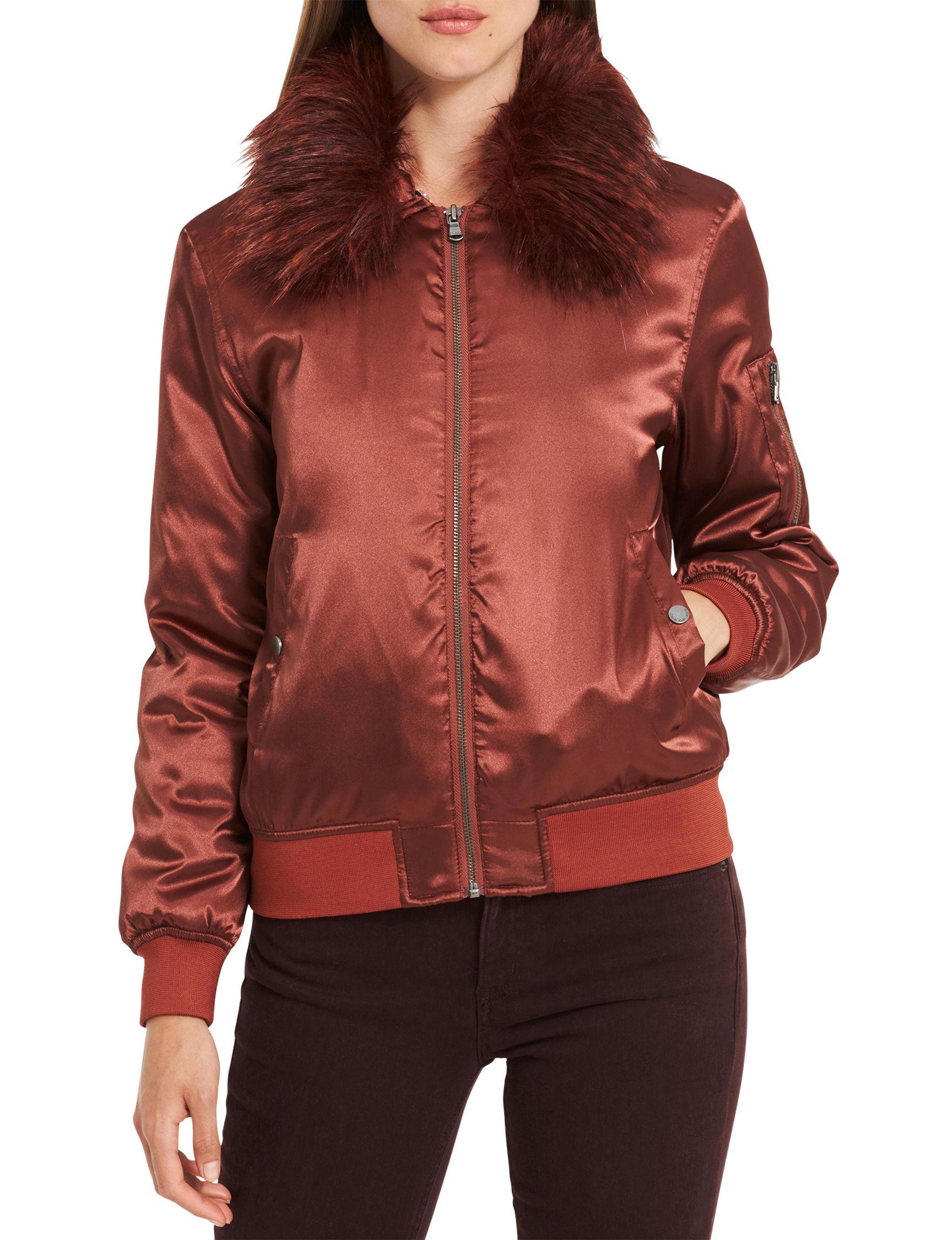 Calvin Klein Jeans Rust Bomber & Moto Jackets