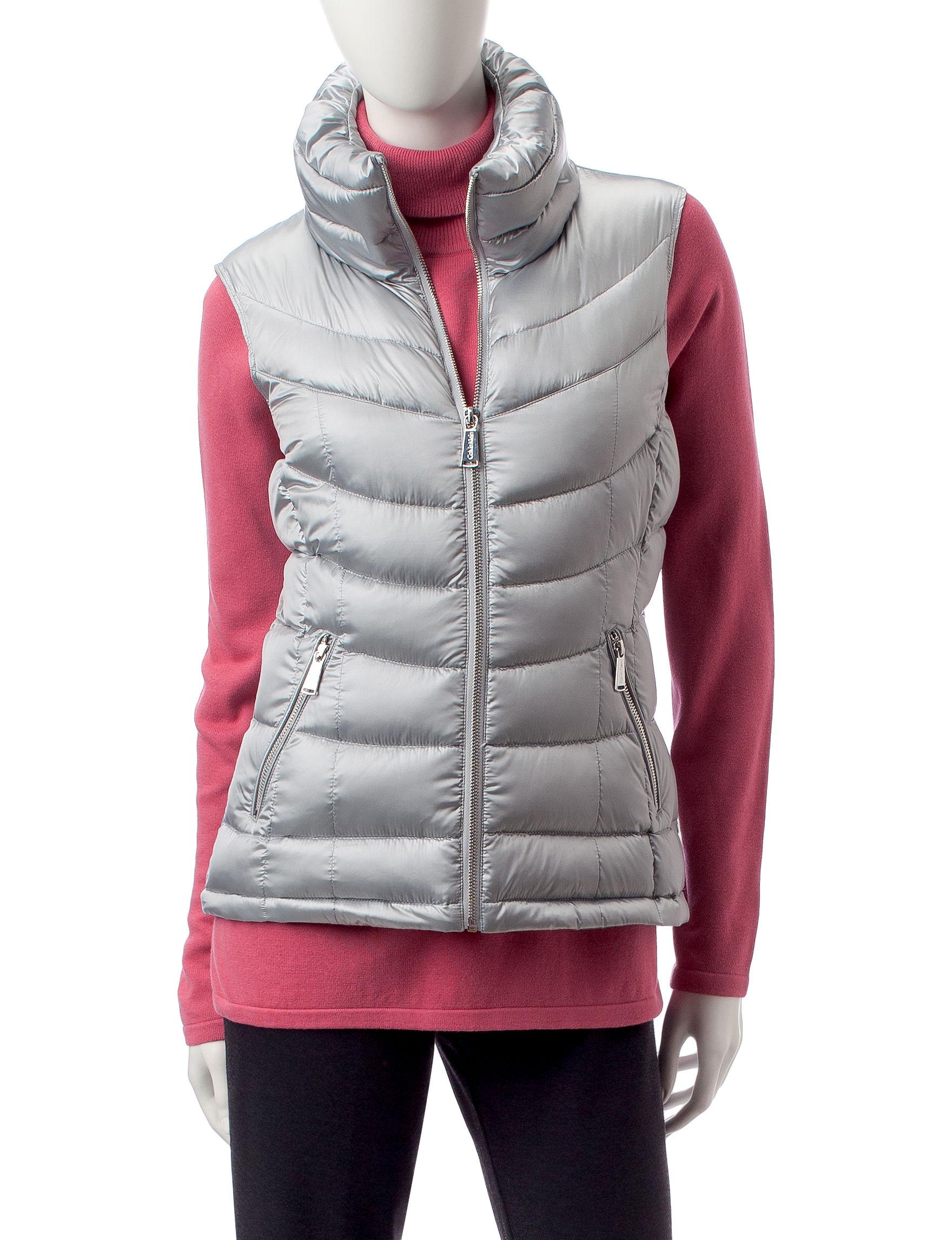 Calvin Klein Grey Puffer & Quilted Jackets Vests