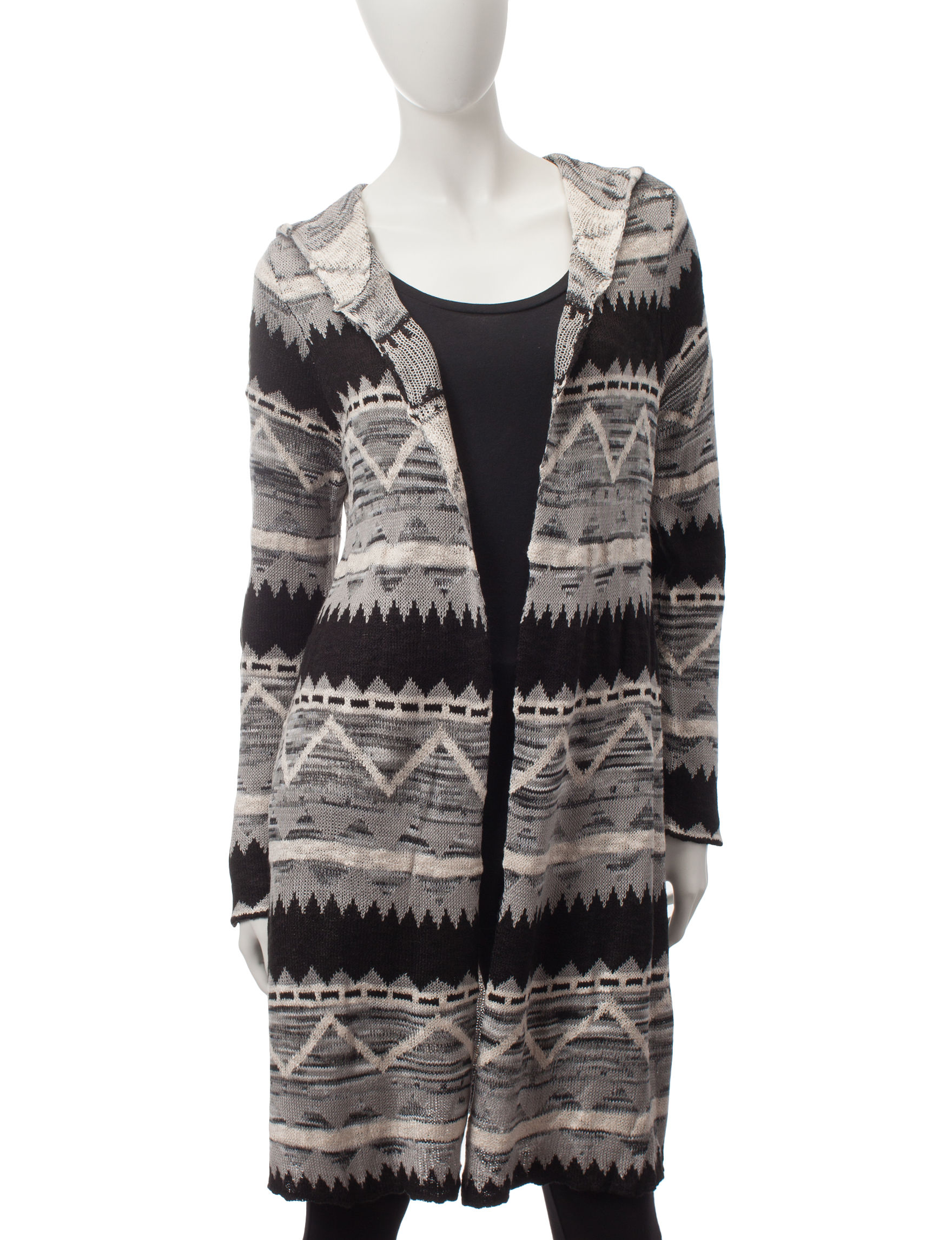 Energé Aztec Print Hooded Cardigan | Stage Stores