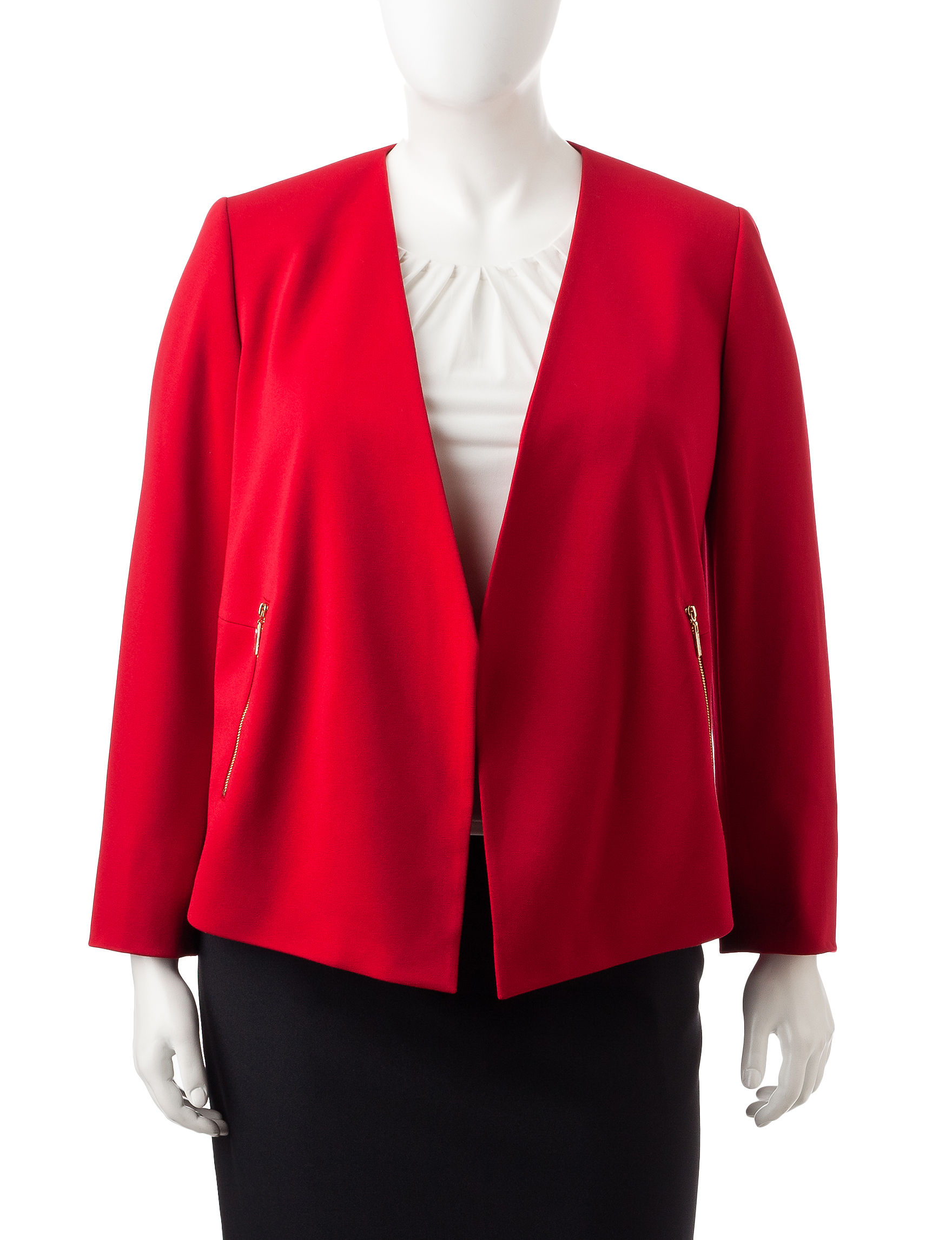 Kasper Red Lightweight Jackets & Blazers