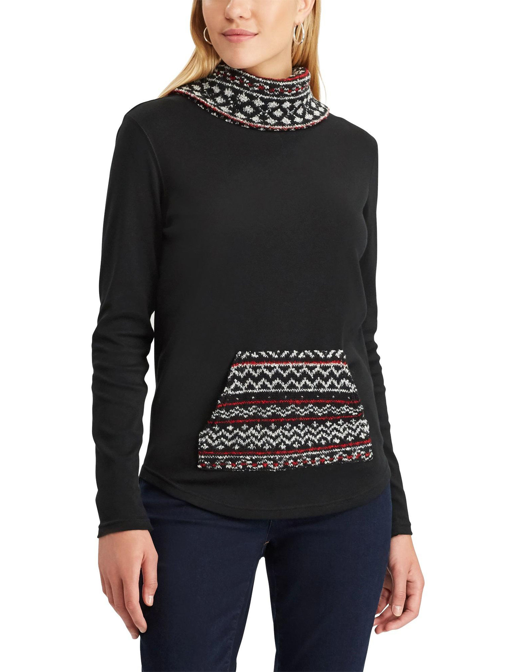 Chaps Black Pull-overs