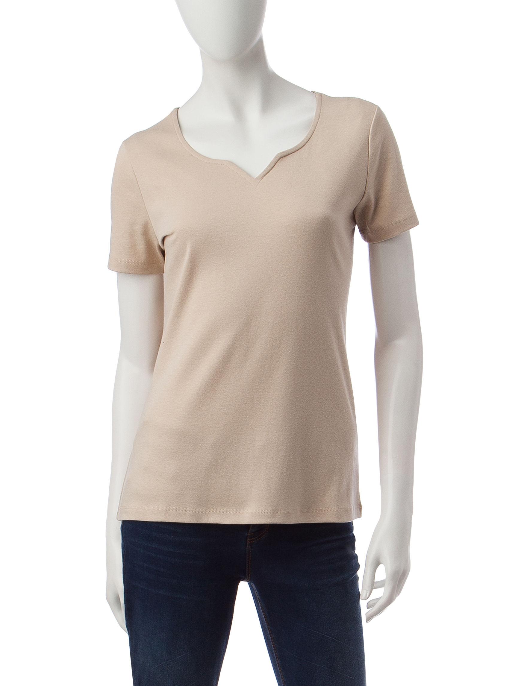Rebecca Malone Tan Shirts & Blouses