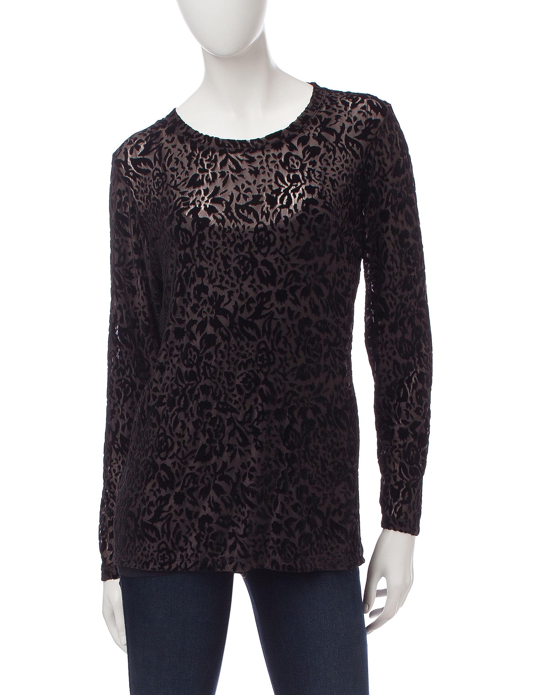 Hannah Black Pull-overs Shirts & Blouses
