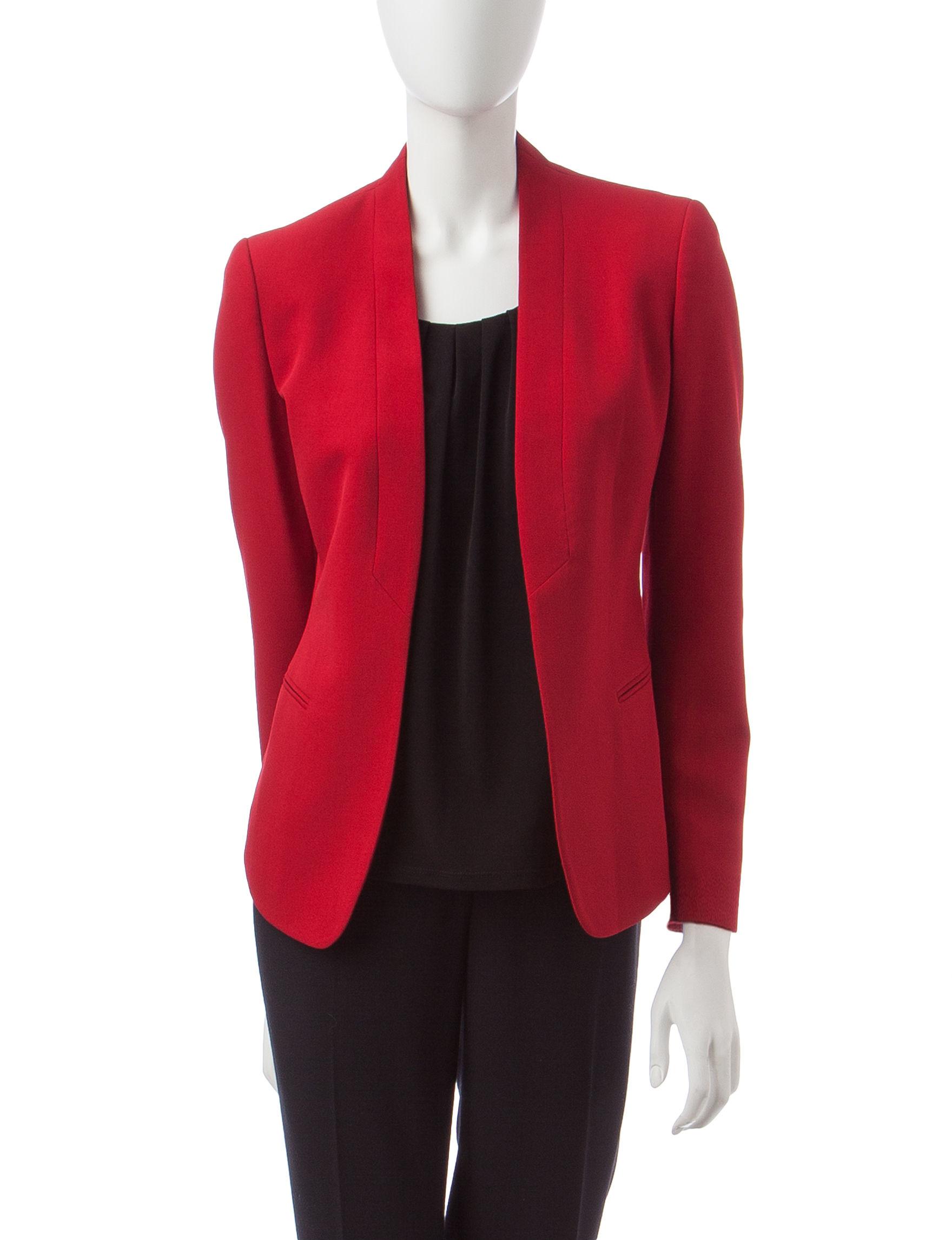 Anne Klein Red Lightweight Jackets & Blazers