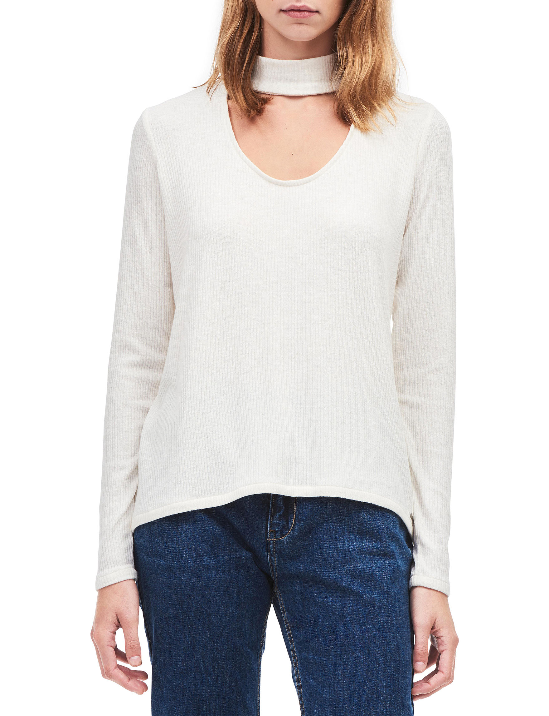 Calvin Klein Jeans White Pull-overs