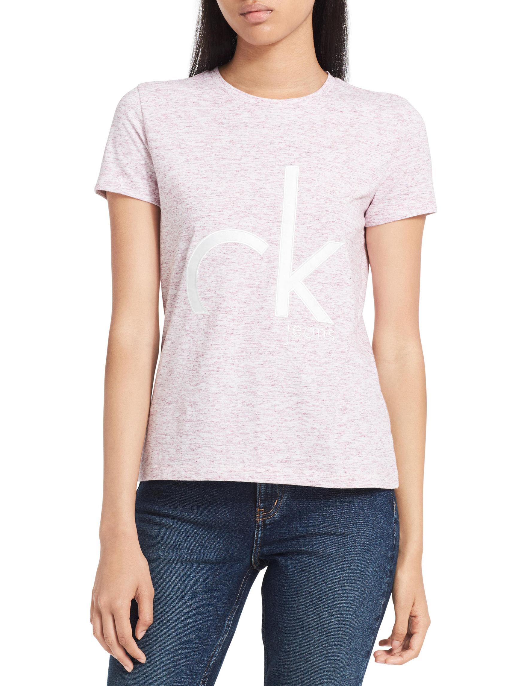 Calvin Klein Jeans Pink Shirts & Blouses Tees & Tanks