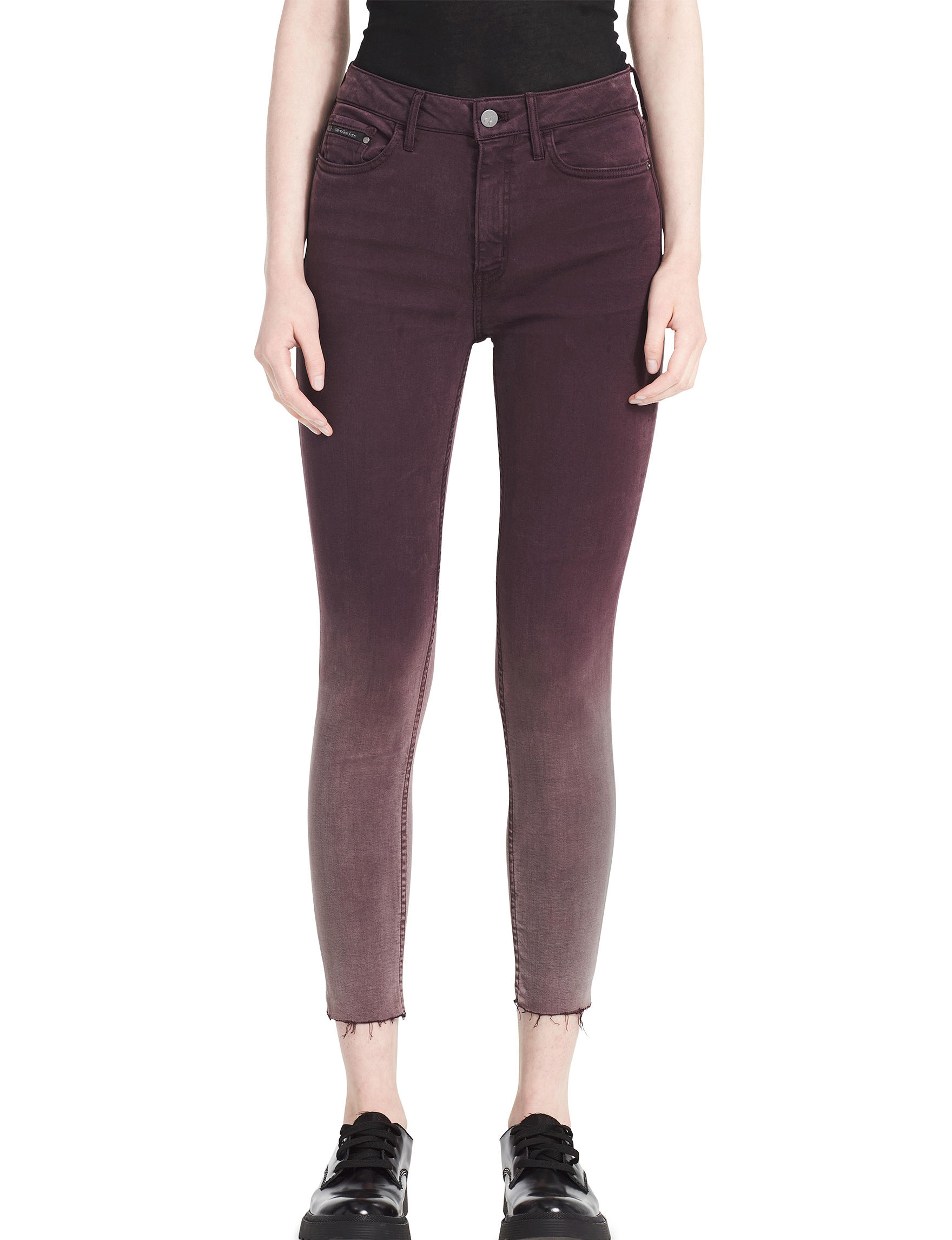 Calvin Klein Jeans Wine Skinny Soft Pants