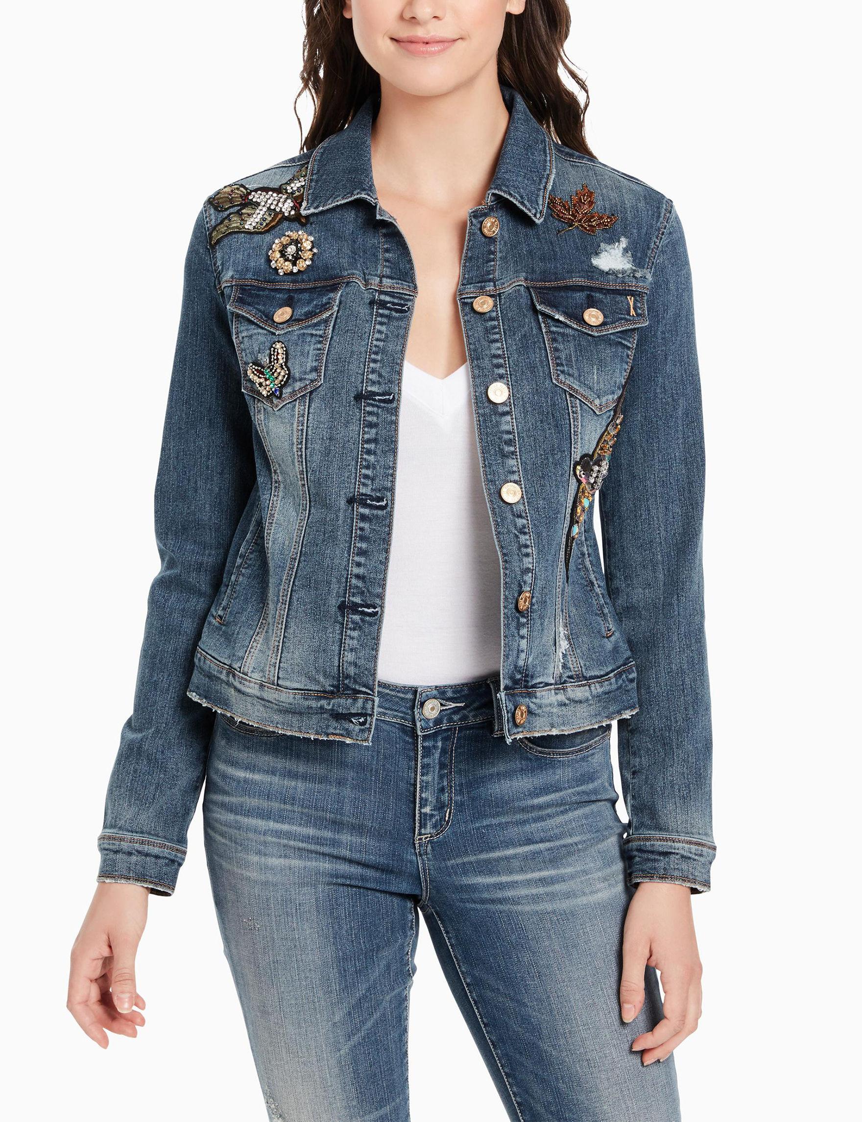 Vintage America Blues Blue Everyday & Casual Lightweight Jackets & Blazers