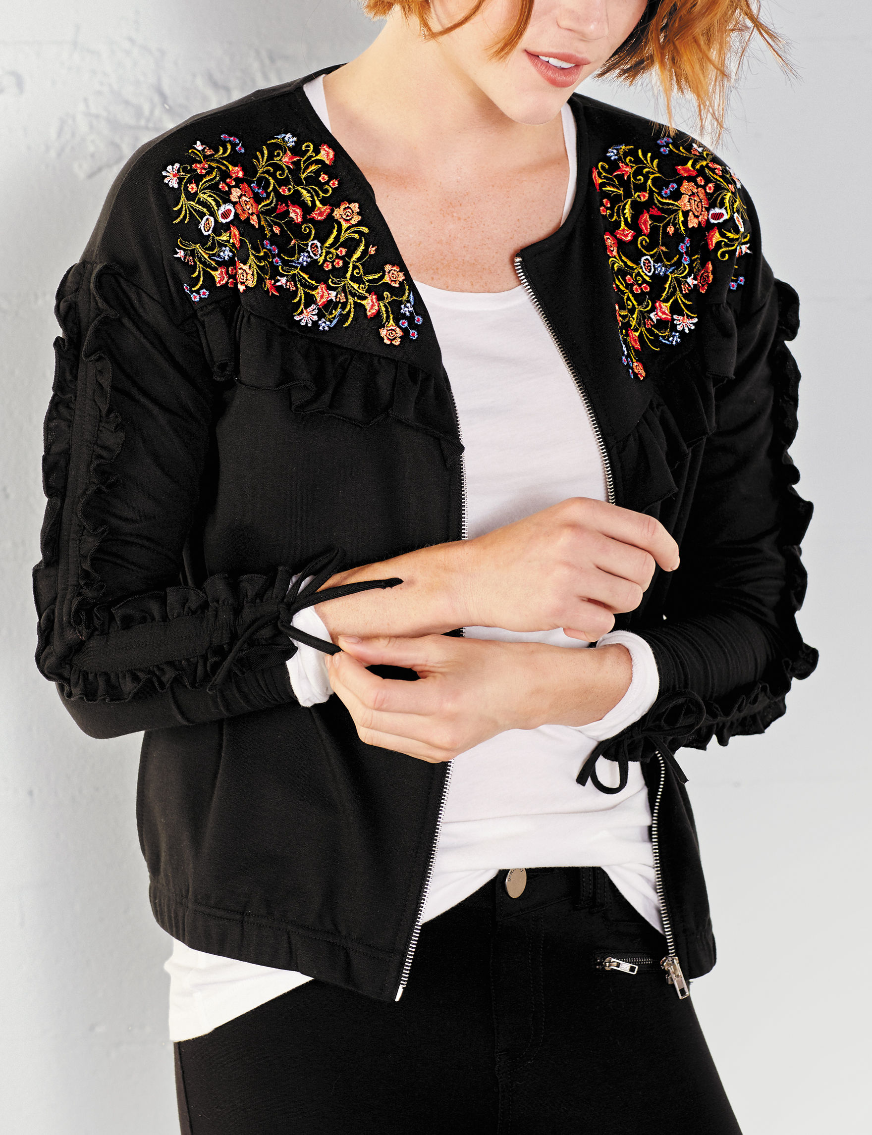 Hannah Black Lightweight Jackets & Blazers