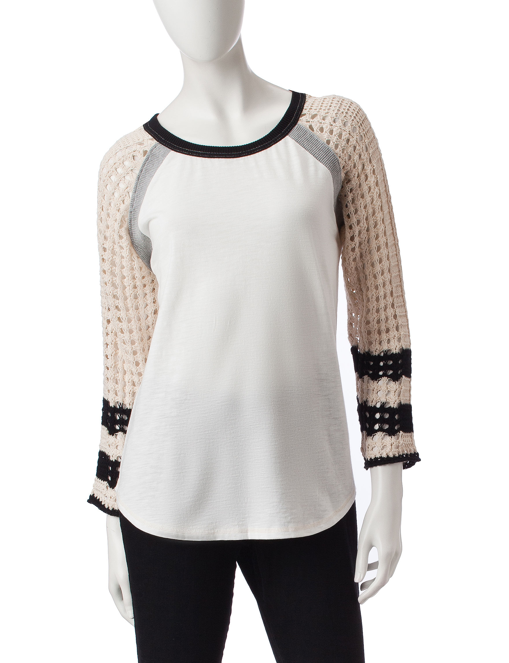 Hannah White Multi Shirts & Blouses Tees & Tanks