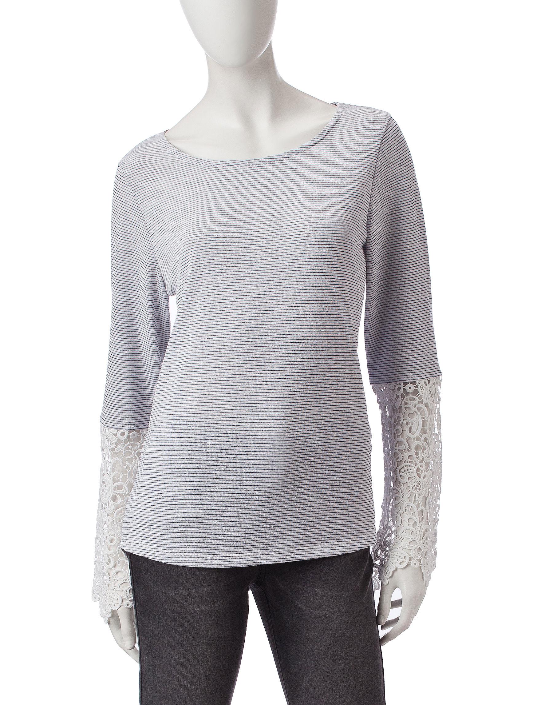 Hannah Blue Stripe Shirts & Blouses