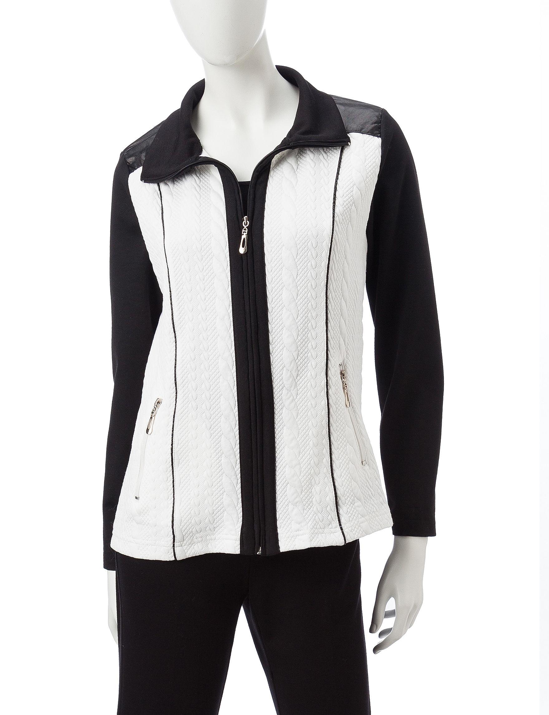 Cathy Daniels Black /  White Lightweight Jackets & Blazers