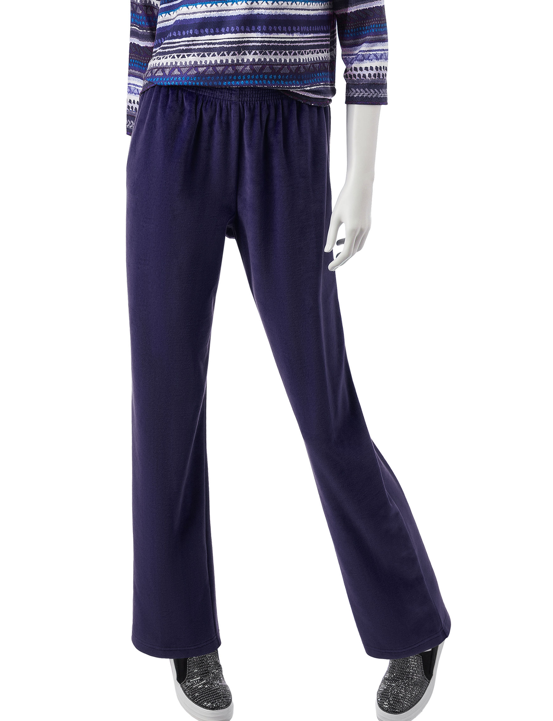 Alfred Dunner Soft Medium Length Pants Stage Stores Amethyst