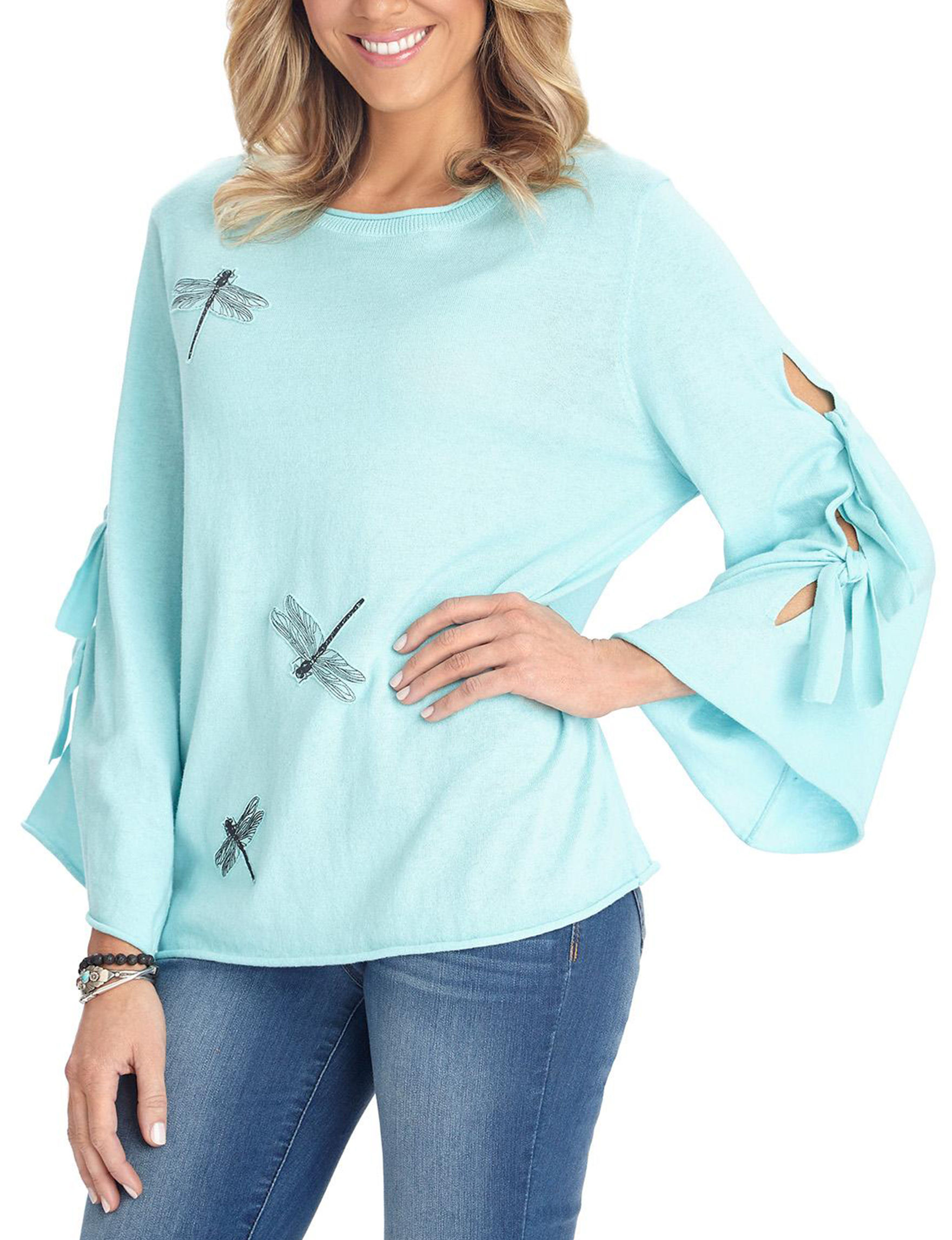 Democracy Turquoise Pull-overs