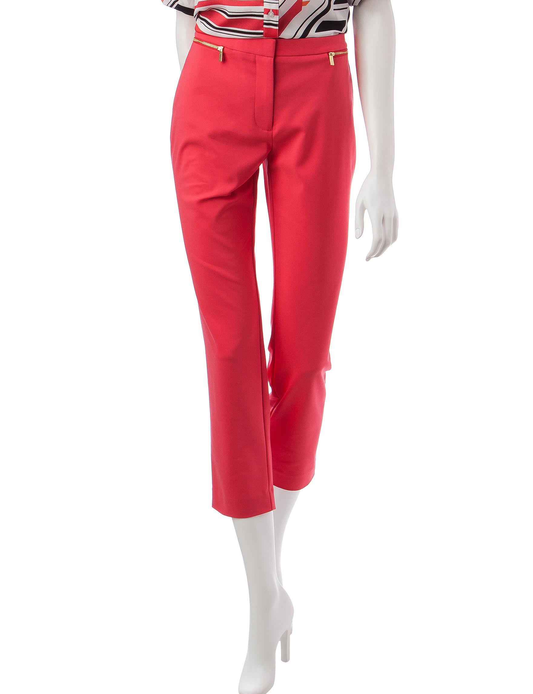 Calvin Klein Red Regular Soft Pants