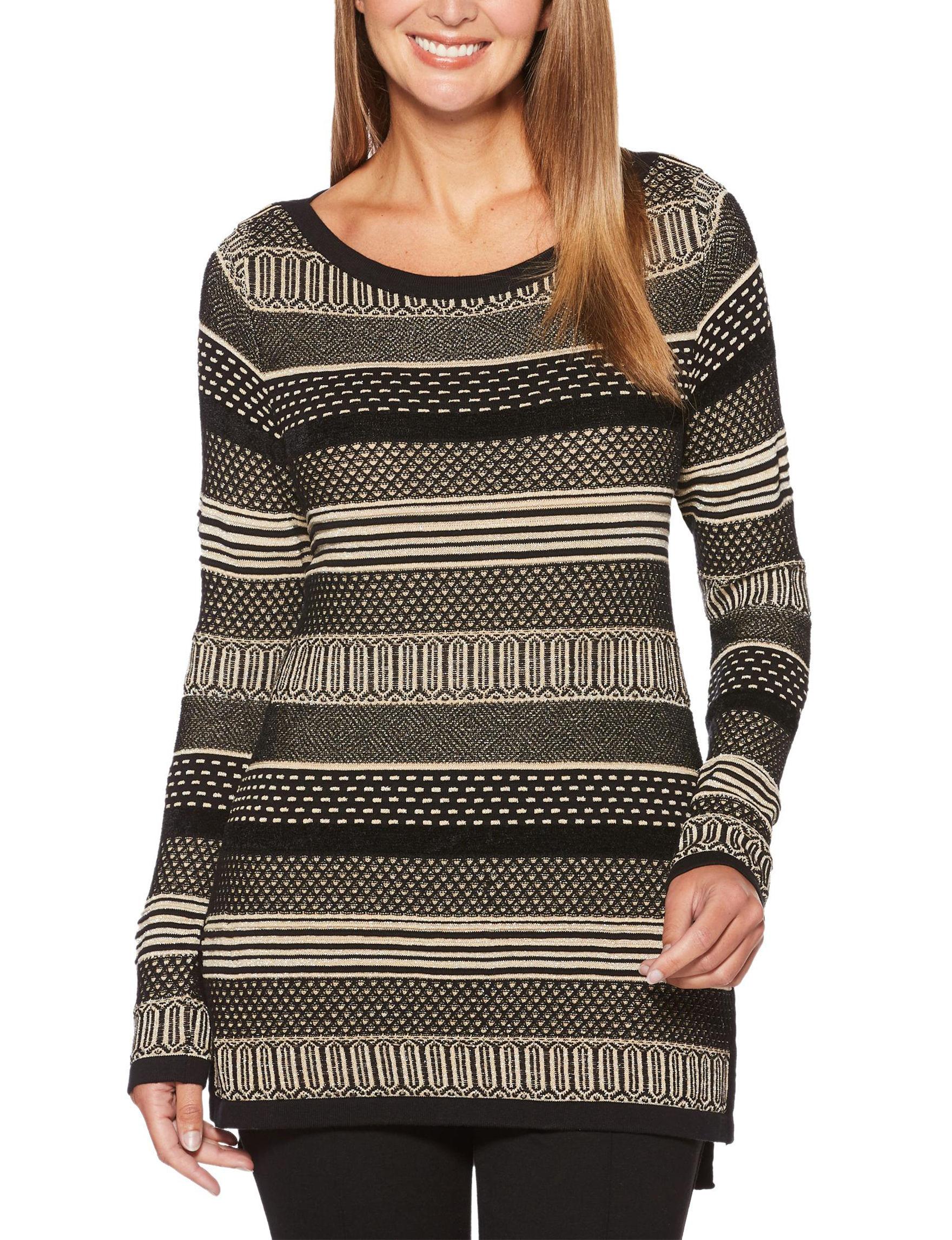 Rafaella Striped Lurex Tunic Sweater | Stage Stores