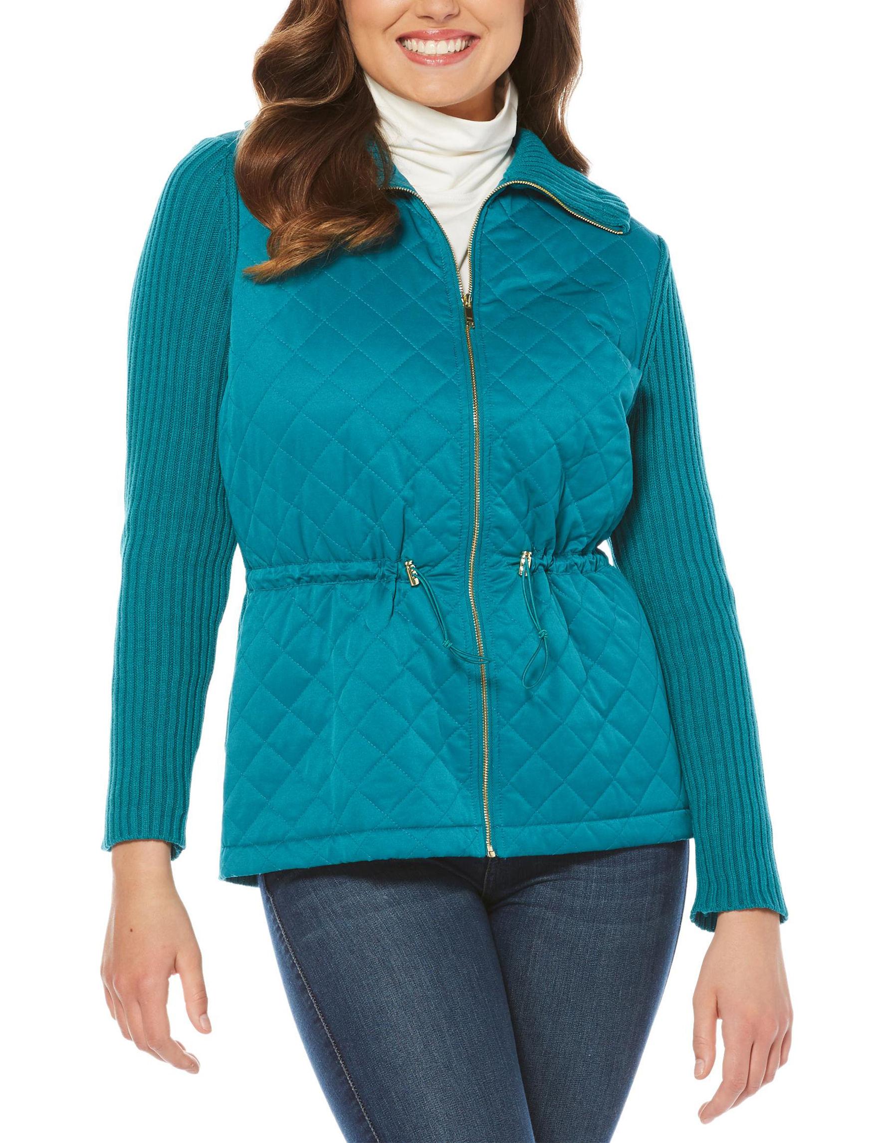 Rafaella Blue Lightweight Jackets & Blazers