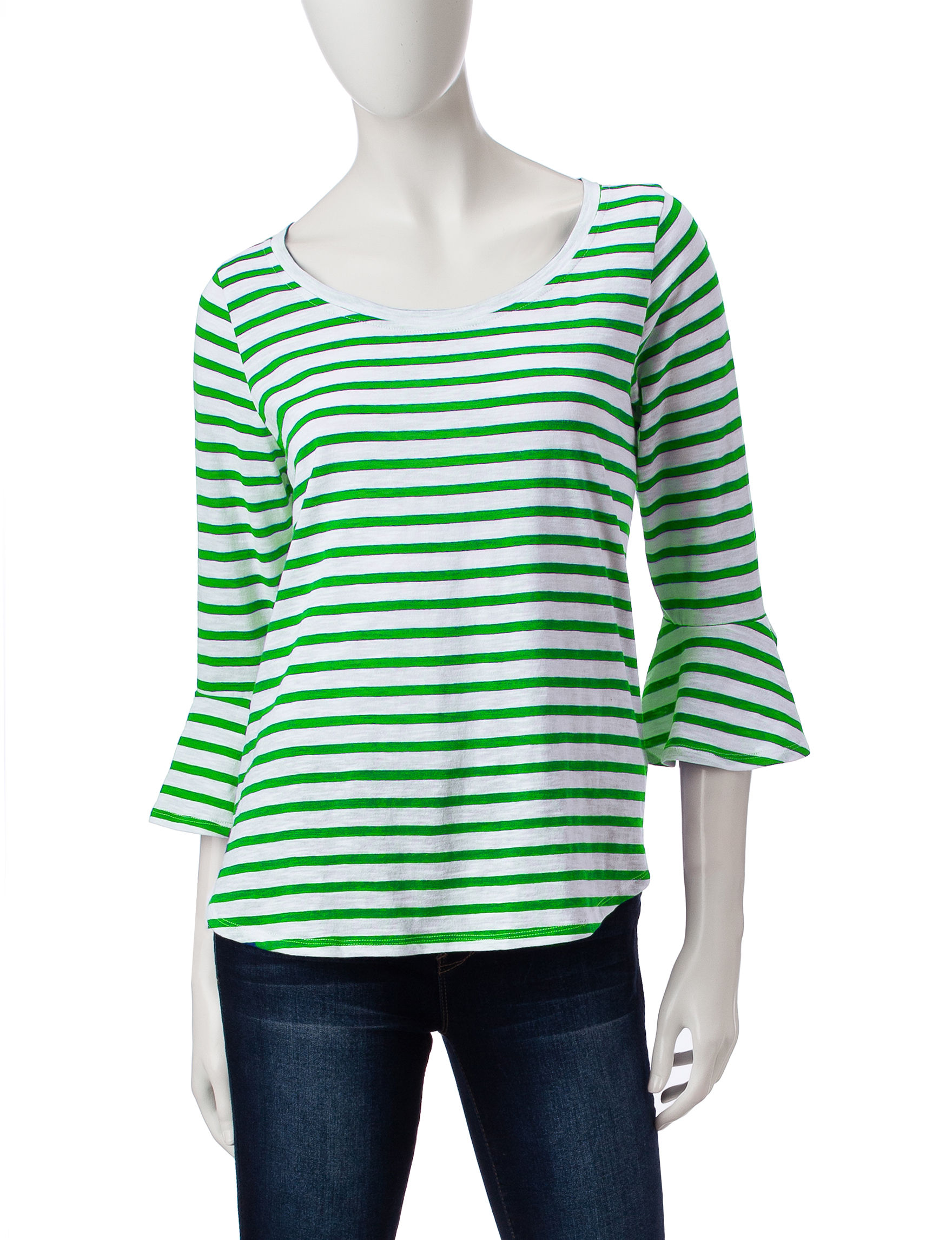 Hannah Green / White Shirts & Blouses Tees & Tanks