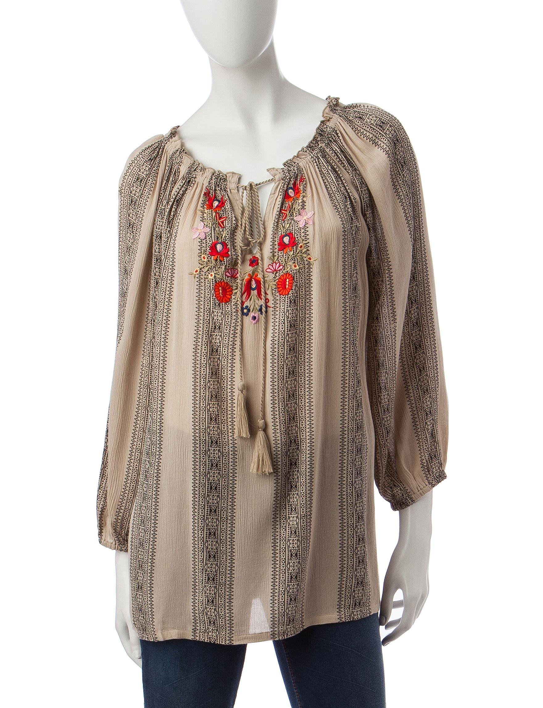 Hannah Khaki Shirts & Blouses