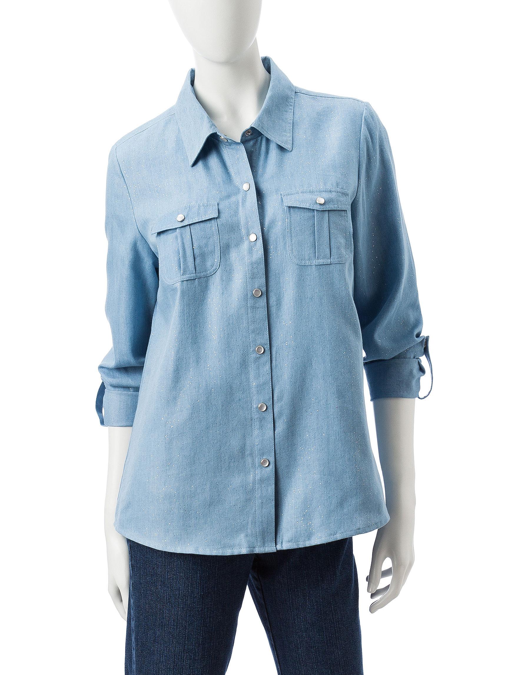 Cathy Daniels Chambray Shirts & Blouses