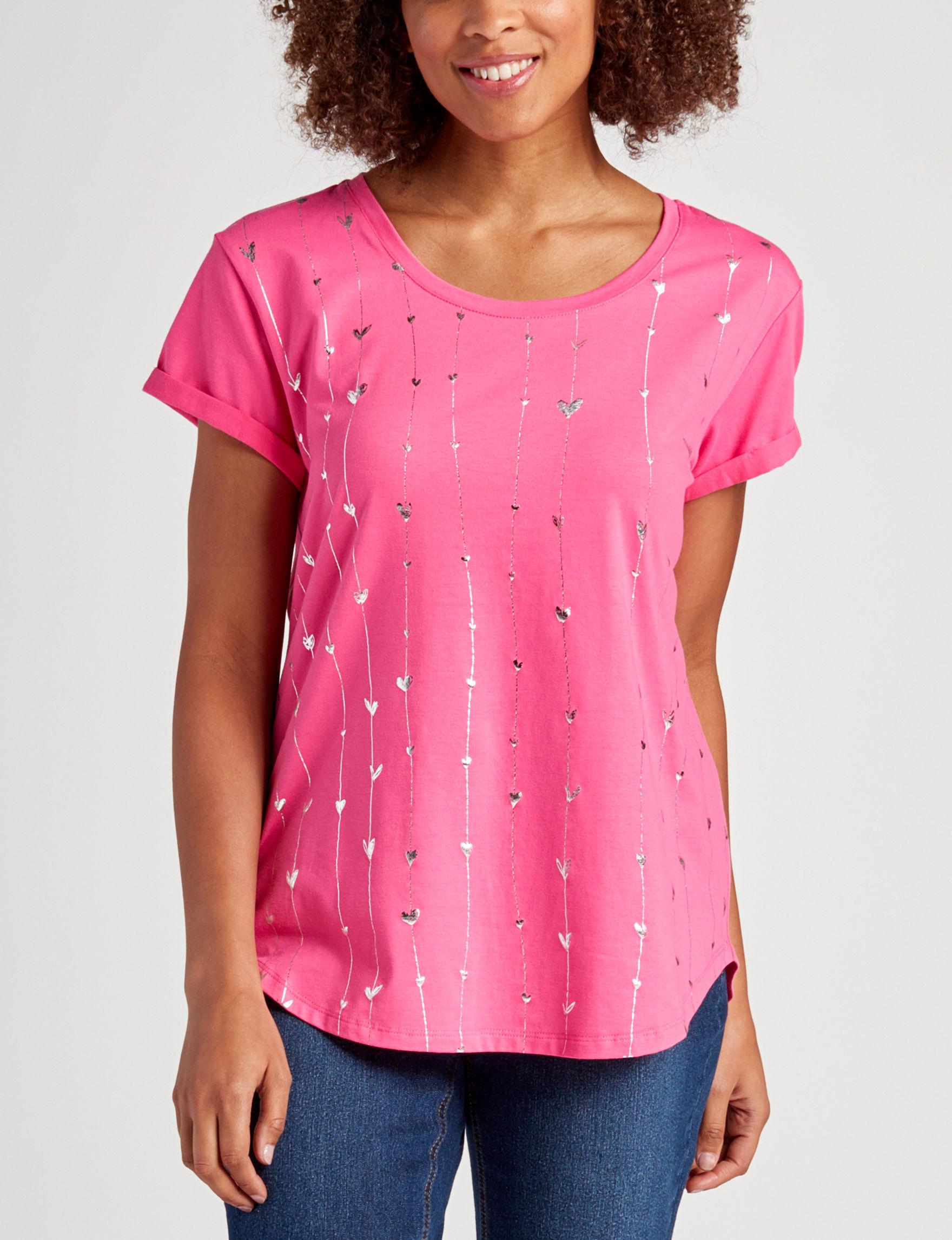 Rebecca Malone Hot Pink Shirts & Blouses