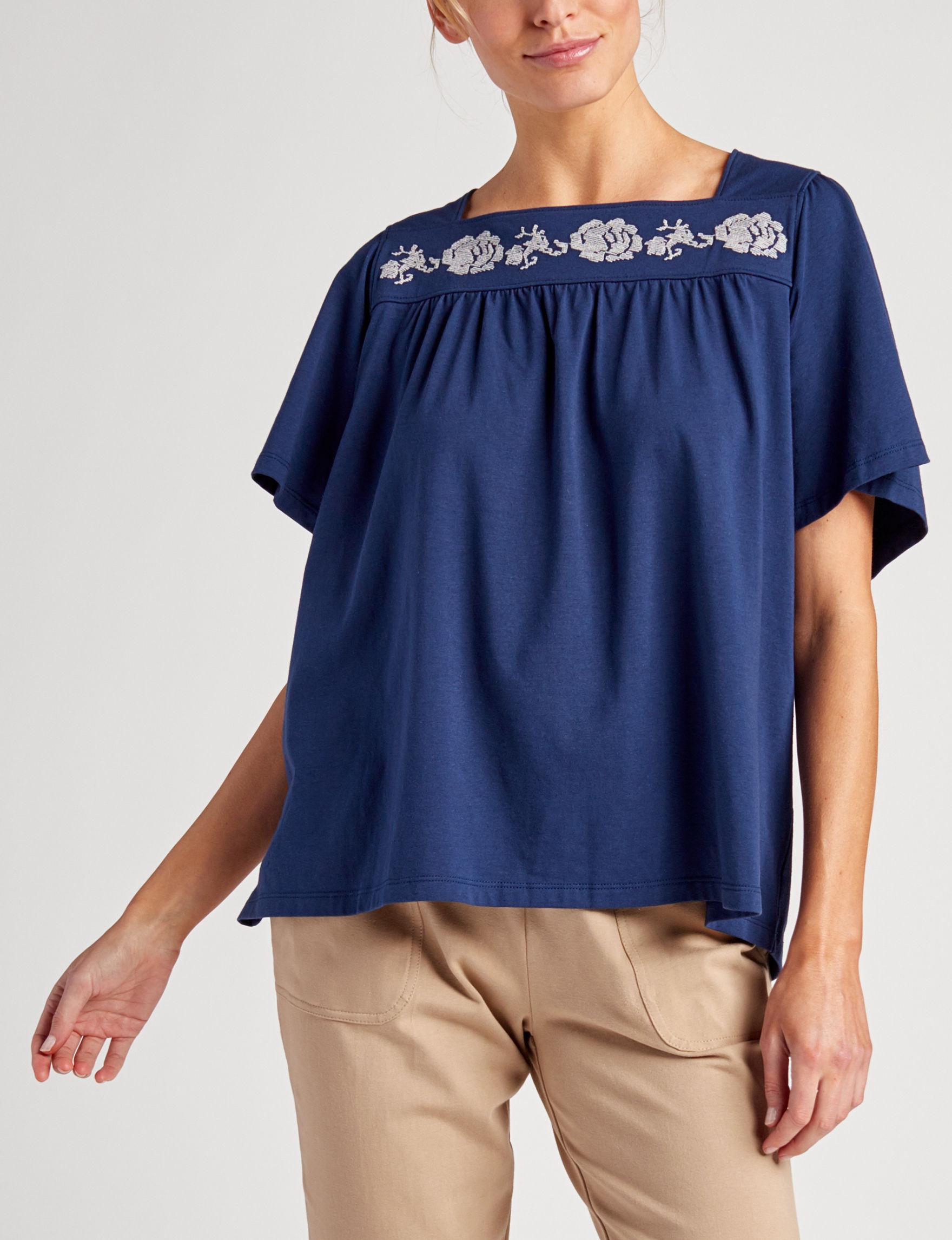 Rebecca Malone Dark Blue Shirts & Blouses