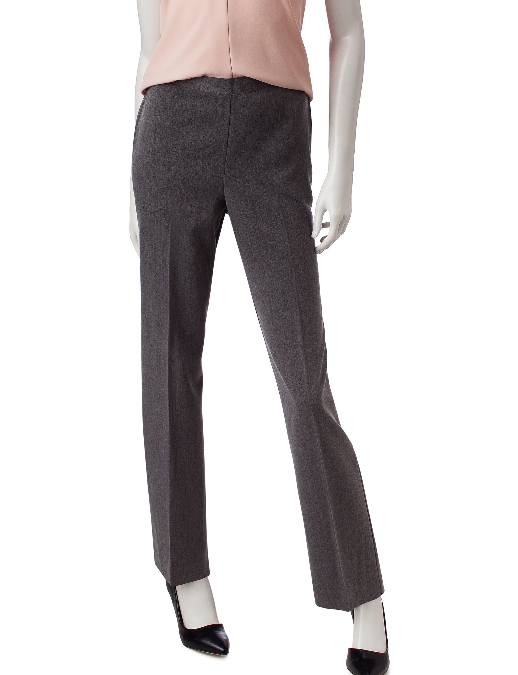 Alfred Dunner Charcoal Soft Pants