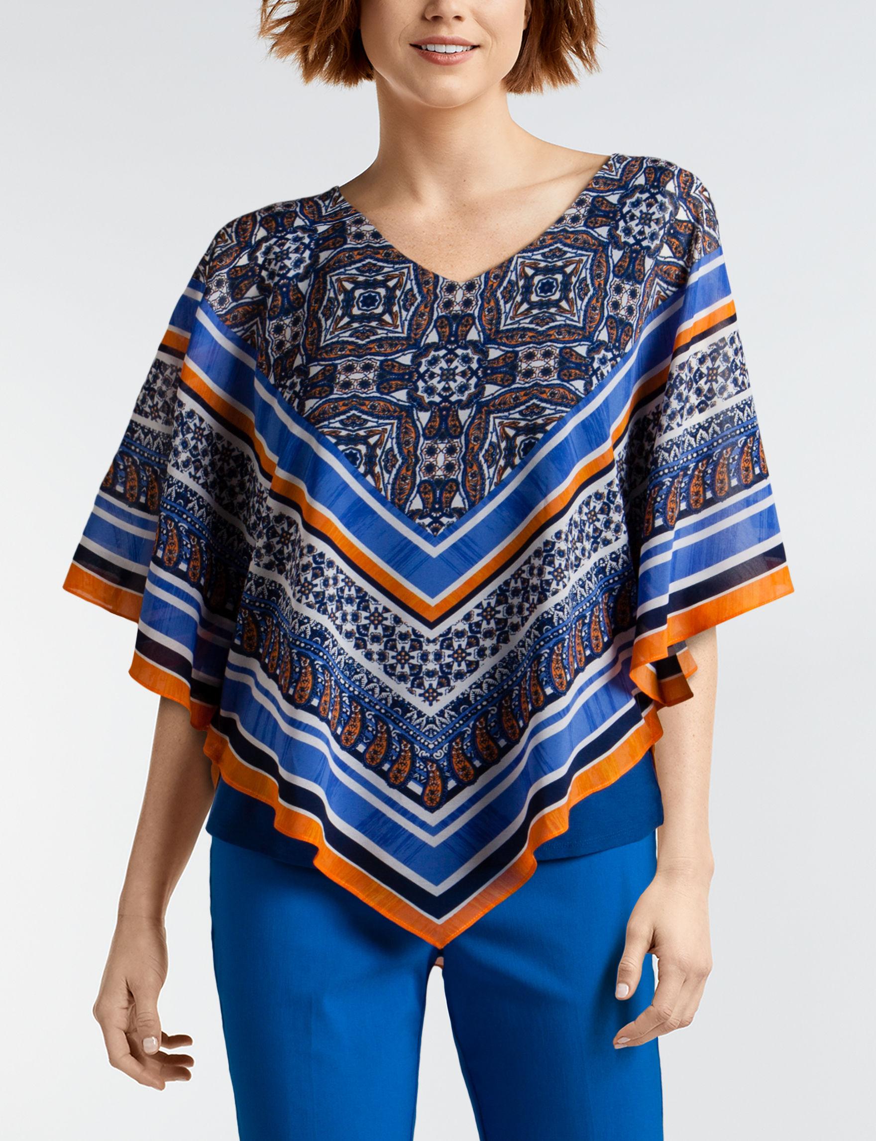 Ruby Road Blue / Multi Shirts & Blouses