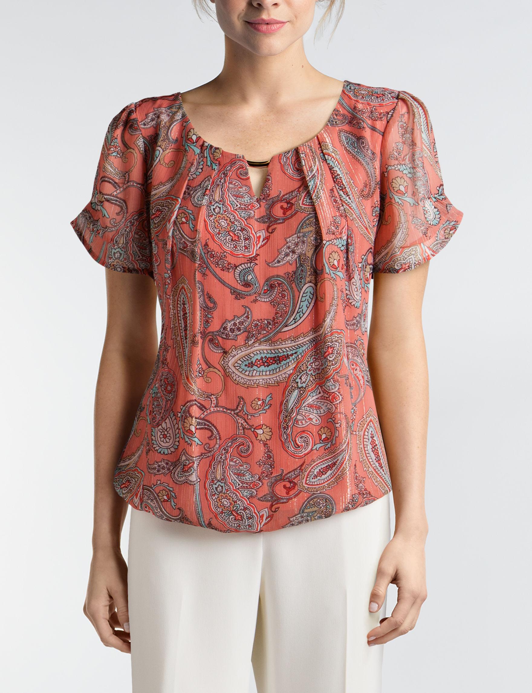 Sara Michelle Paisley Shirts & Blouses
