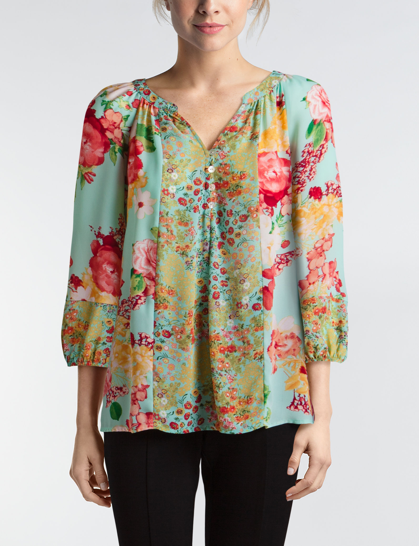 Valerie Stevens Seafoam Pull-overs Shirts & Blouses