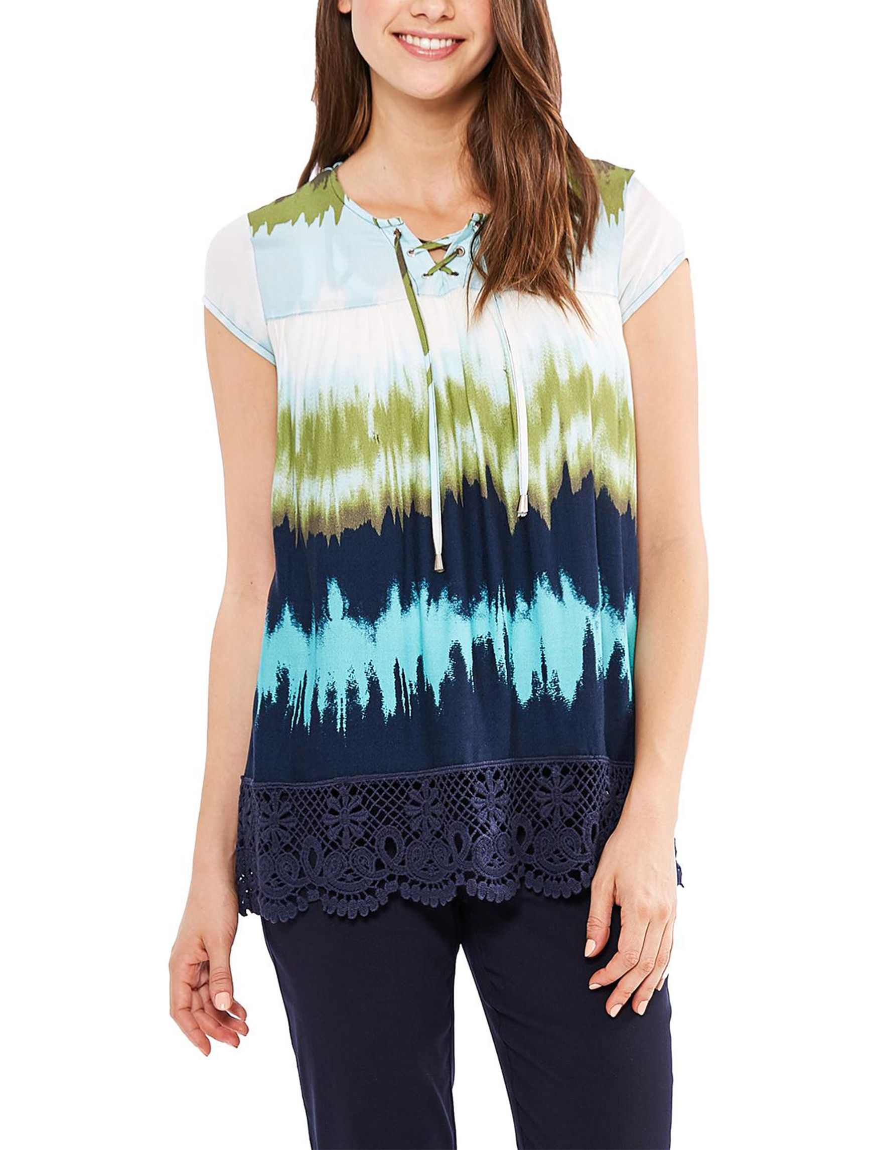 Skyes The Limit Green Multi Shirts & Blouses
