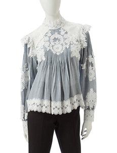 Nannette Blue / White Shirts & Blouses