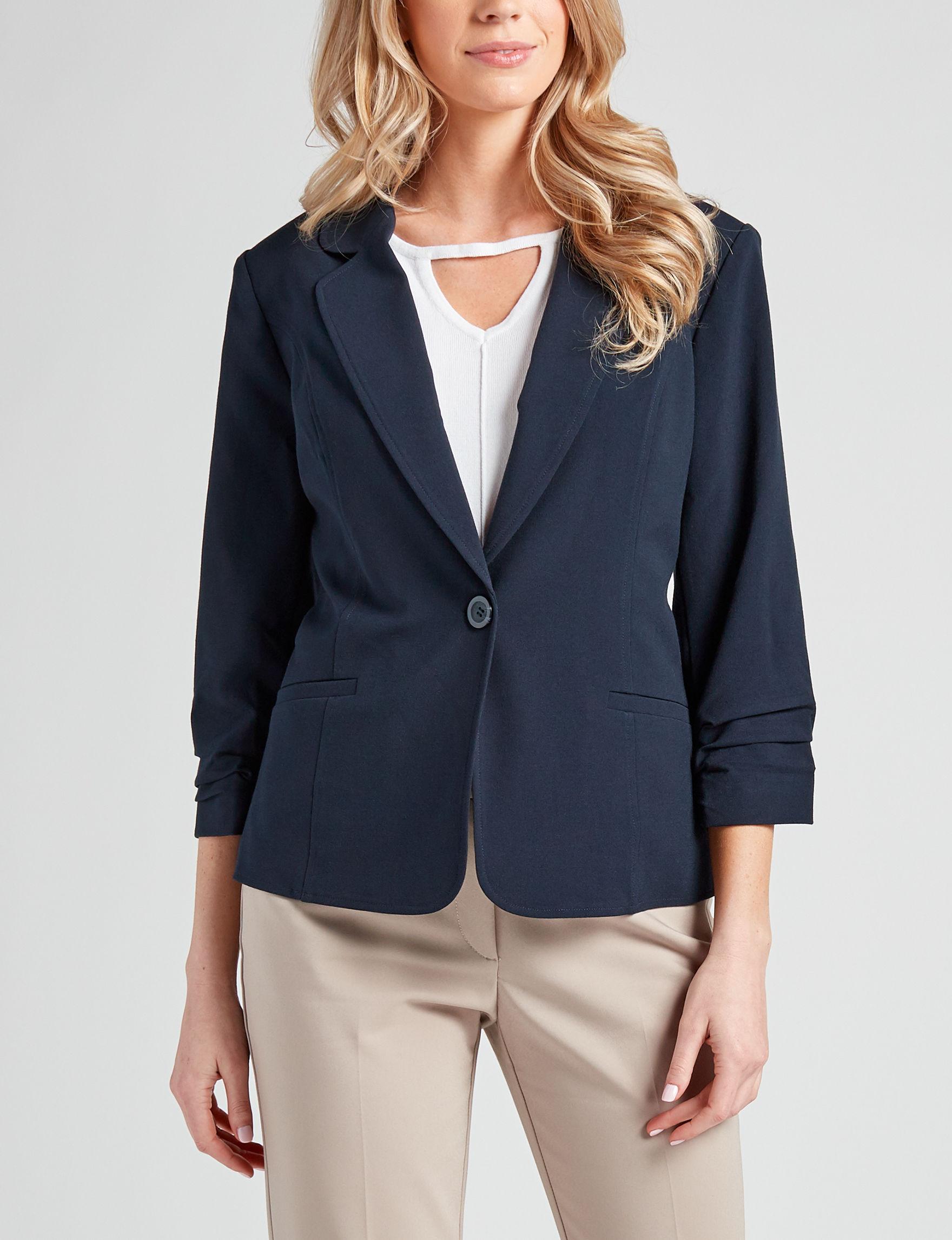 Valerie Stevens Navy Lightweight Jackets & Blazers