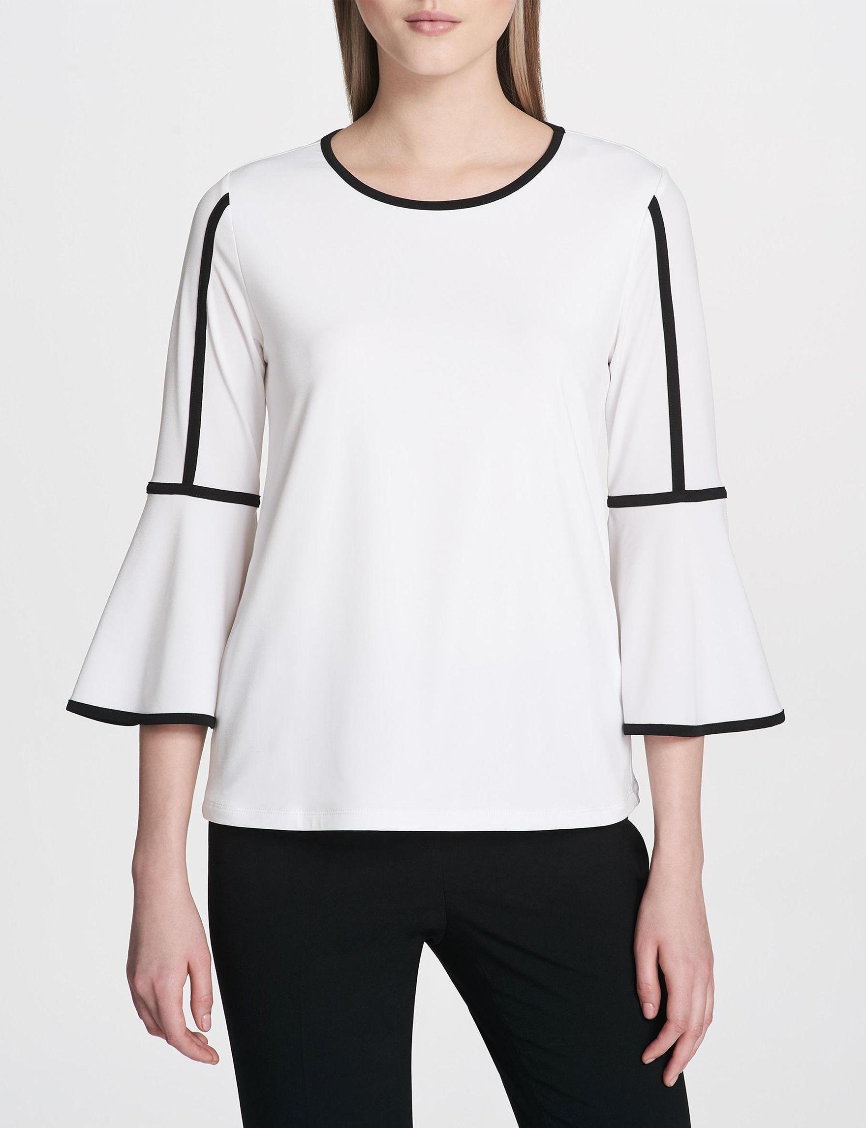 Calvin Klein White / Black Shirts & Blouses
