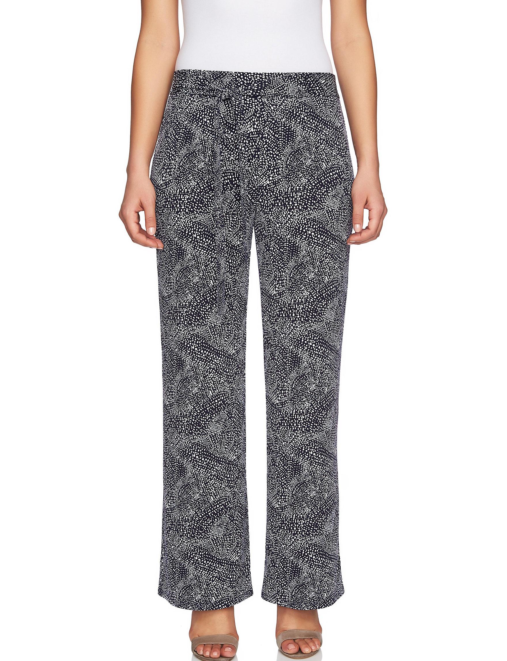 Chaus Black / White Soft Pants