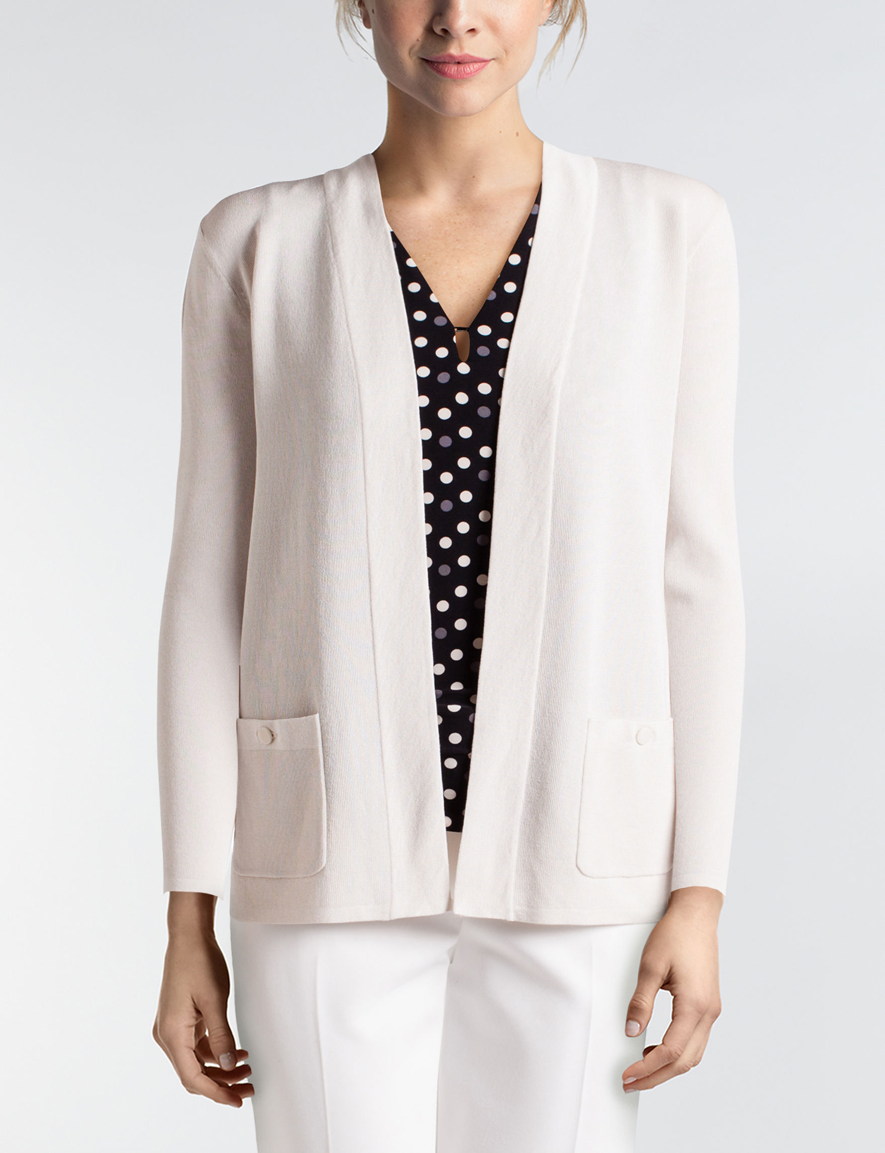 Anne Klein Light Beige Cardigans