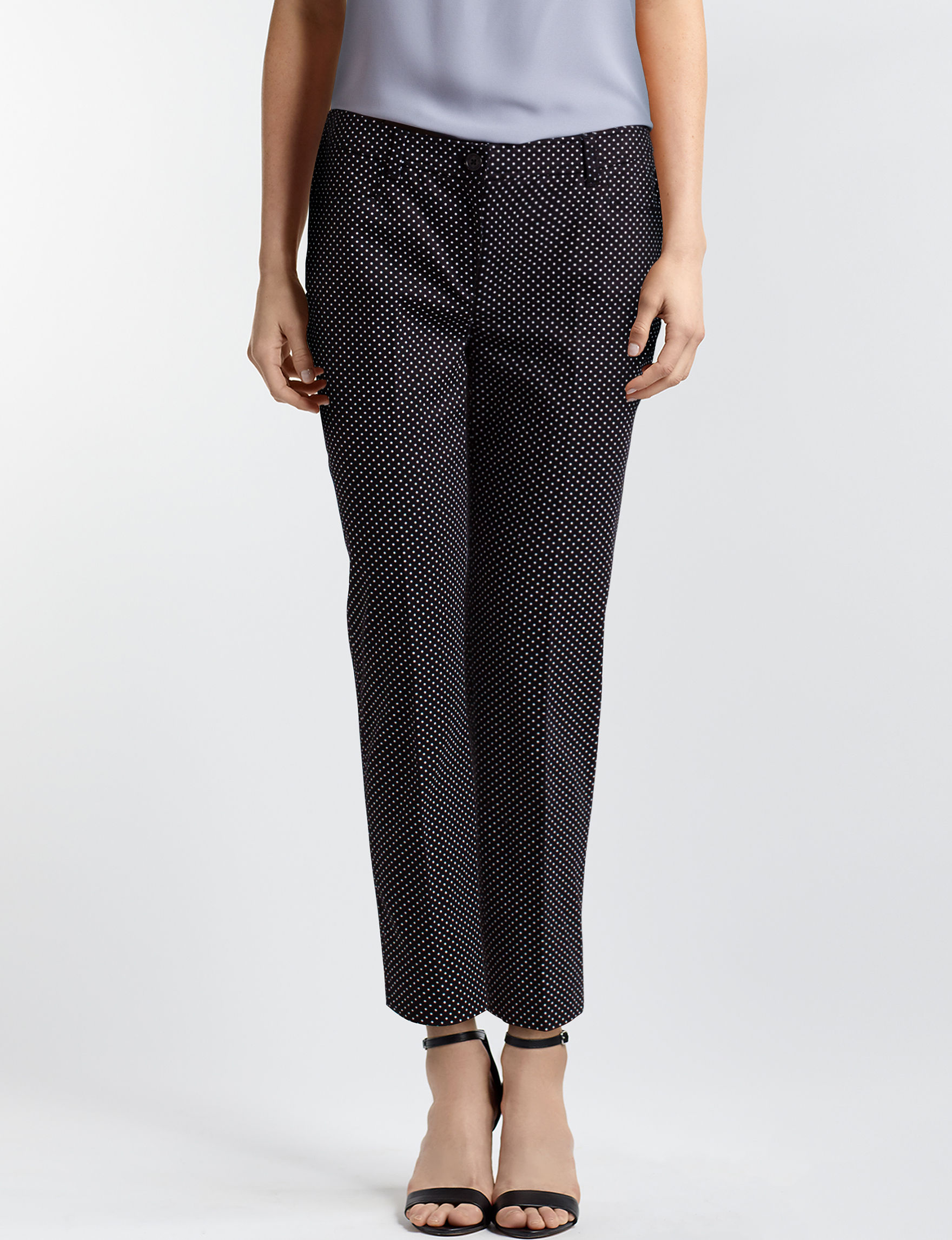 Anne Klein Black / White Soft Pants