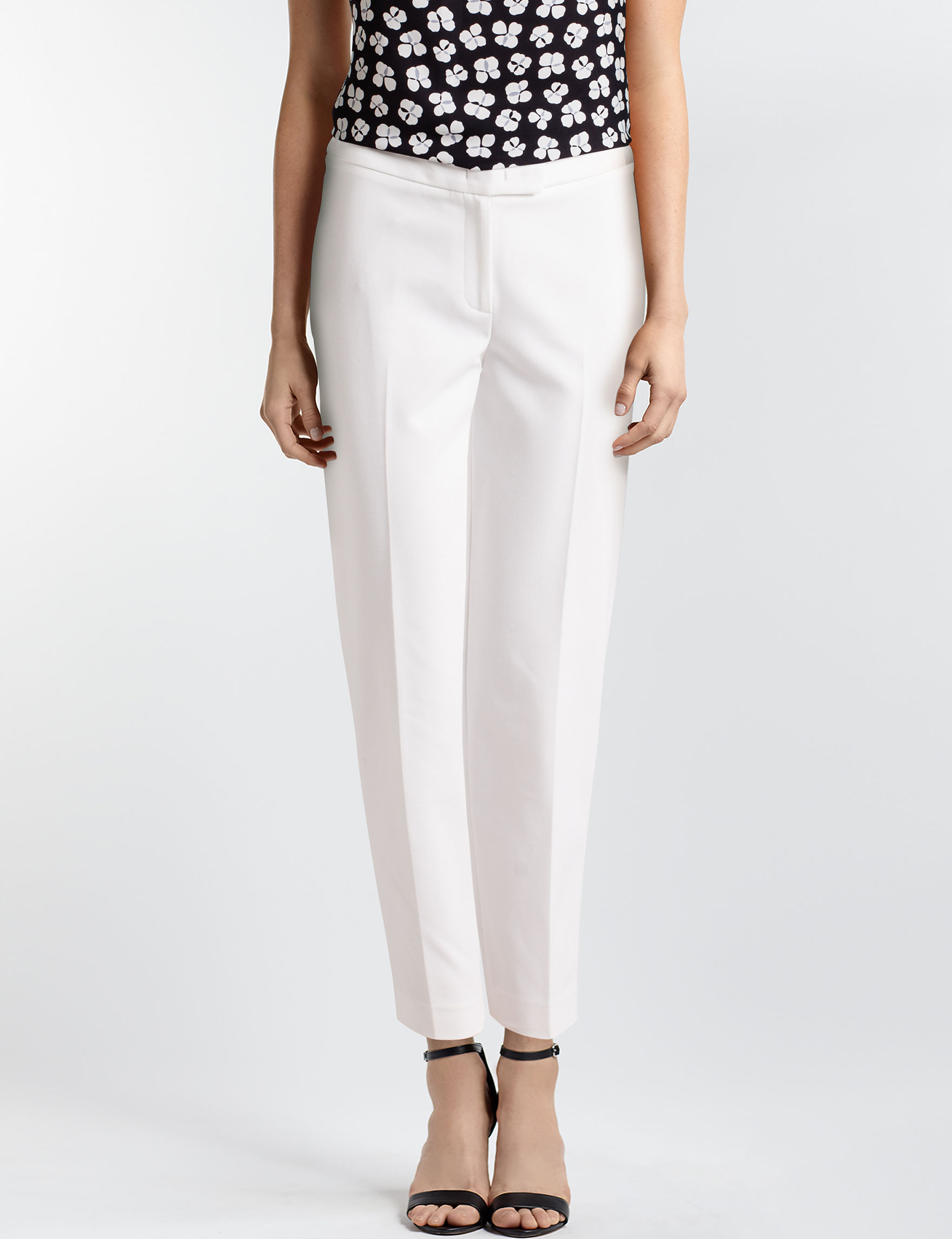 Anne Klein White Soft Pants