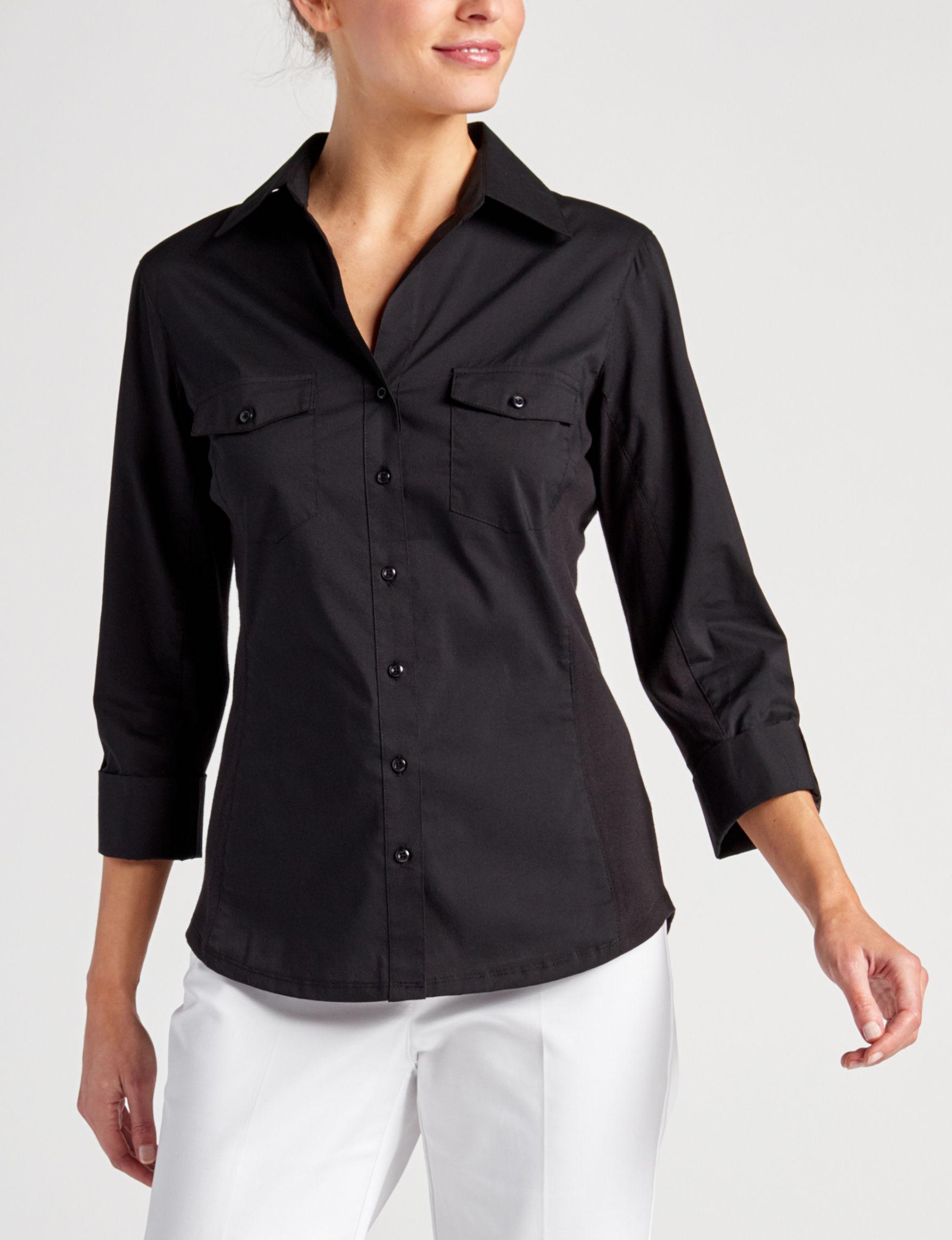 Zac & Rachel Black Shirts & Blouses