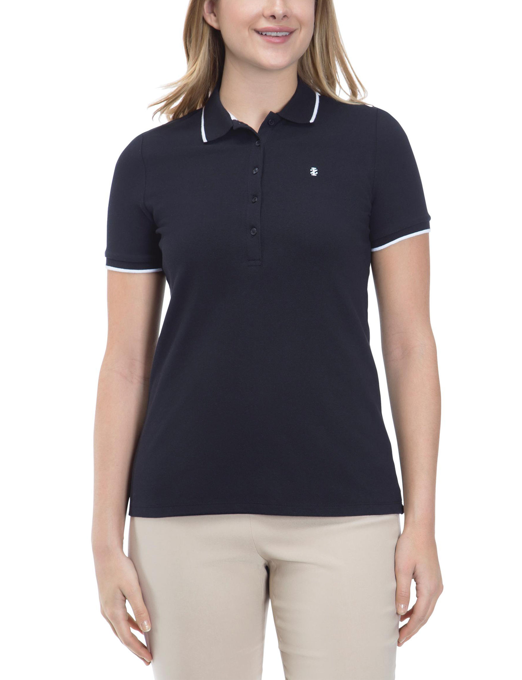 Izod Black Shirts & Blouses