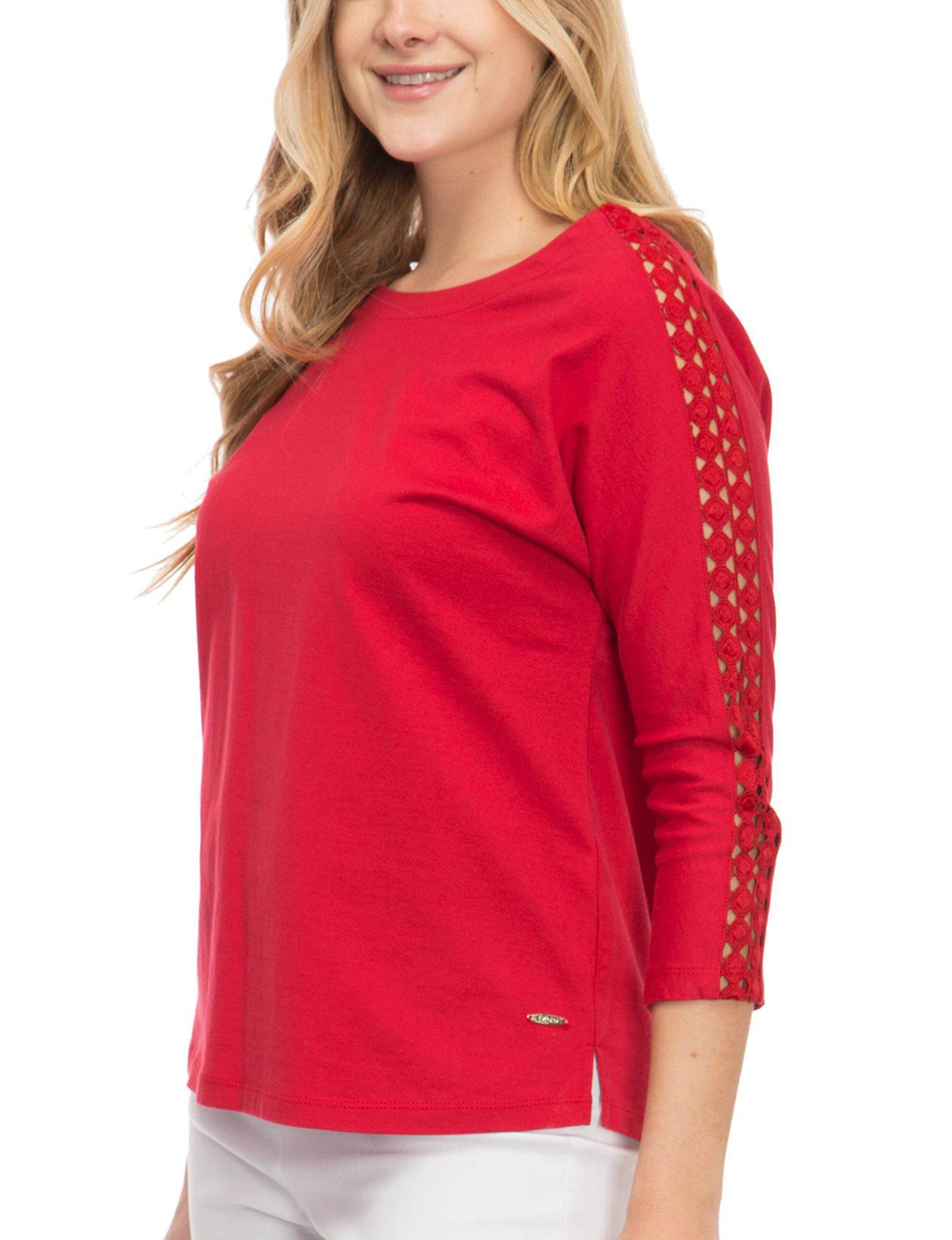 Izod Red Shirts & Blouses