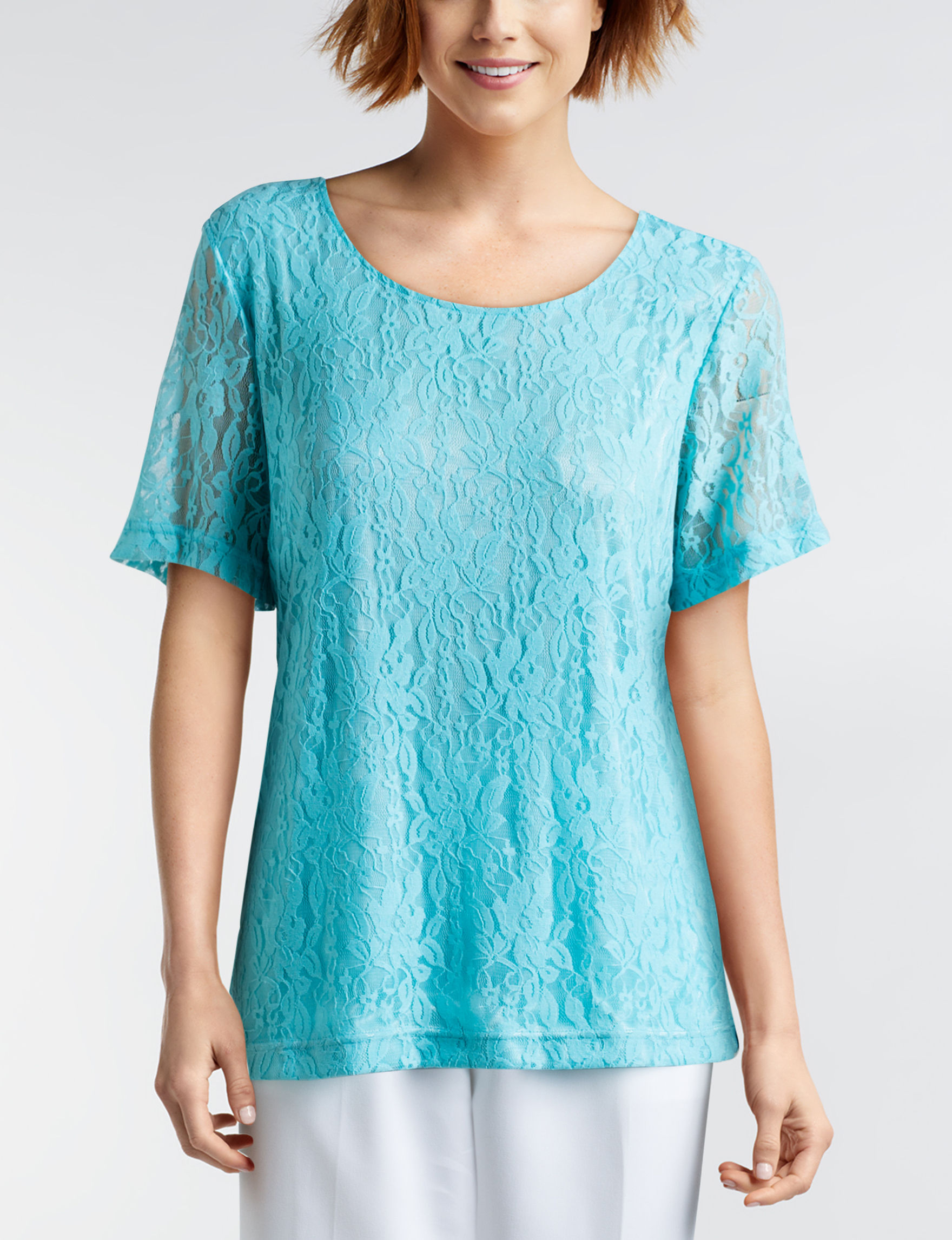 Cathy Daniels Turquoise Shirts & Blouses