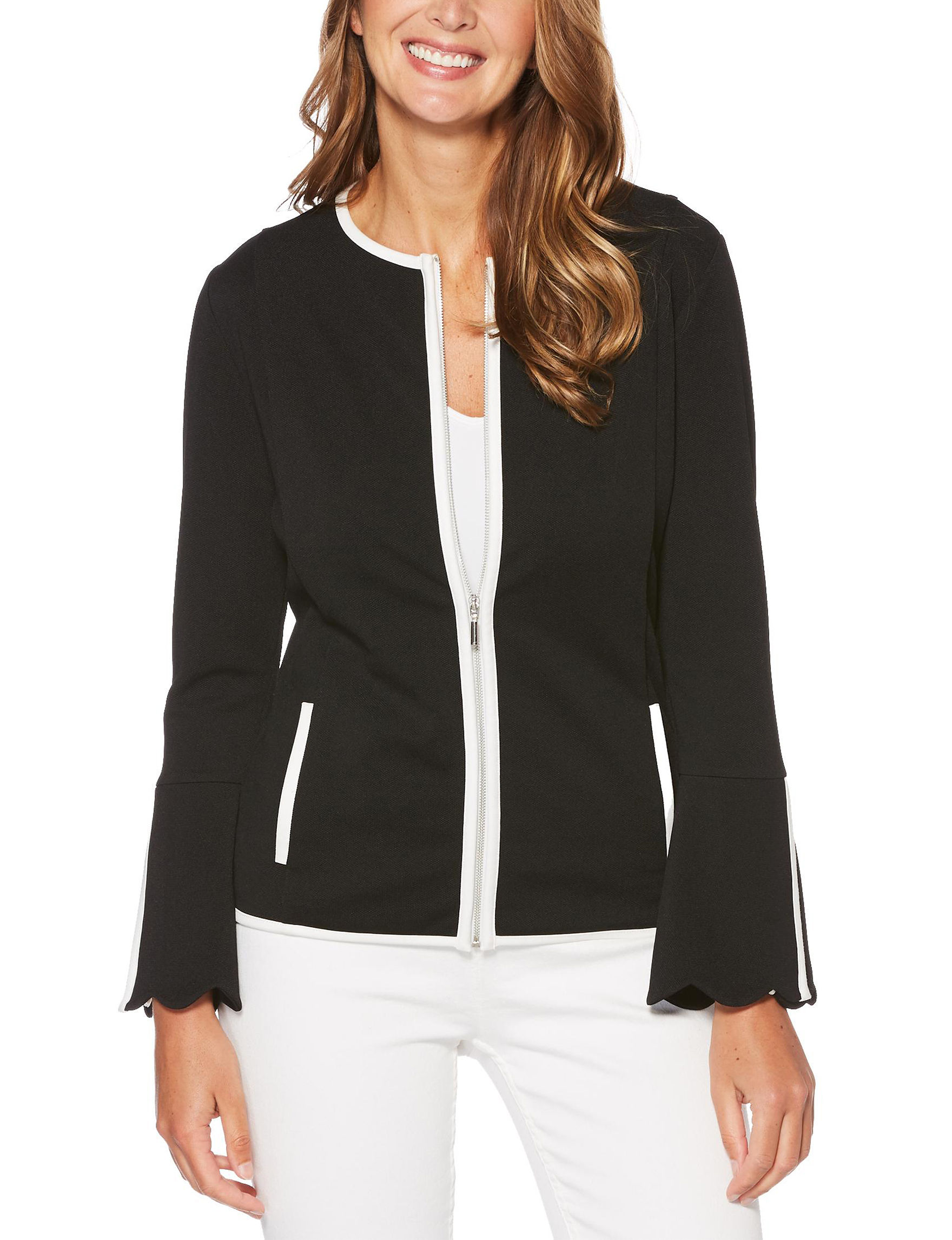 Rafaella Black Lightweight Jackets & Blazers