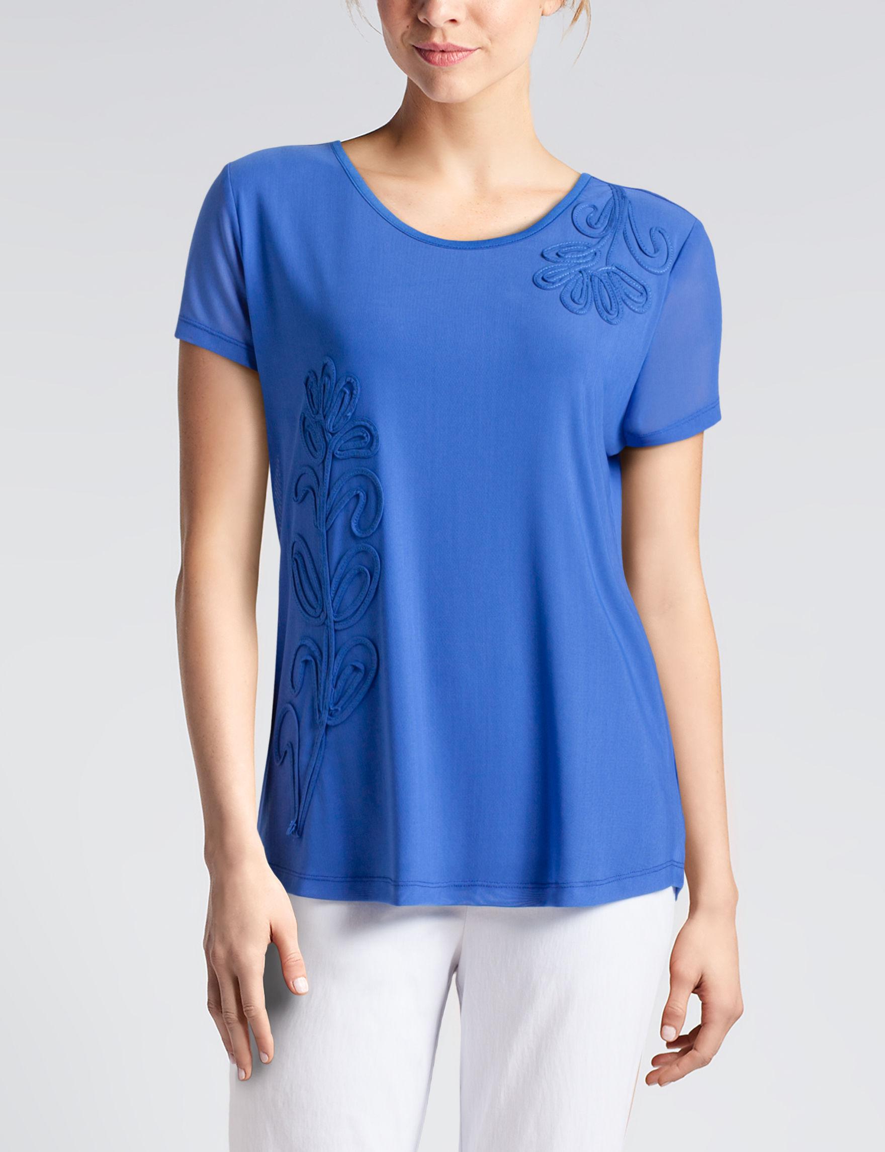 Rebecca Malone Royal Blue Shirts & Blouses
