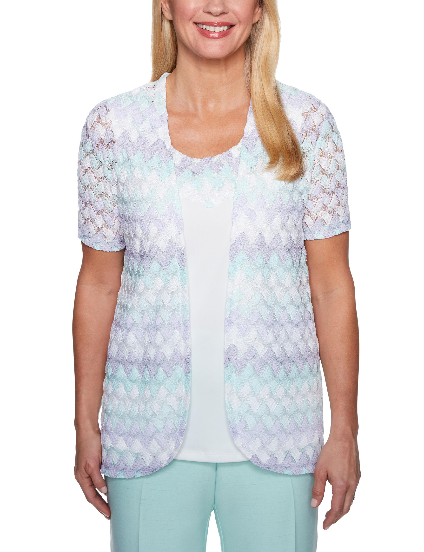 Alfred Dunner White / Multi Shirts & Blouses