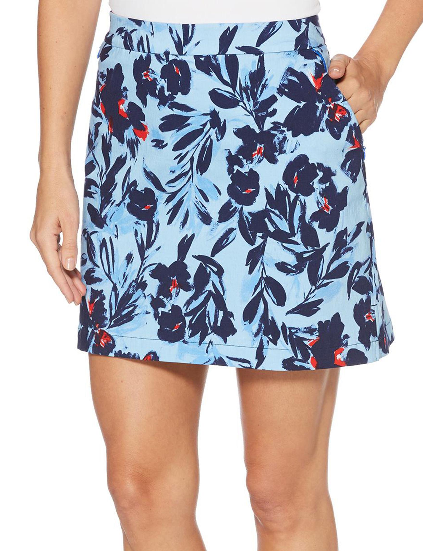Rafaella Blue Floral Skorts