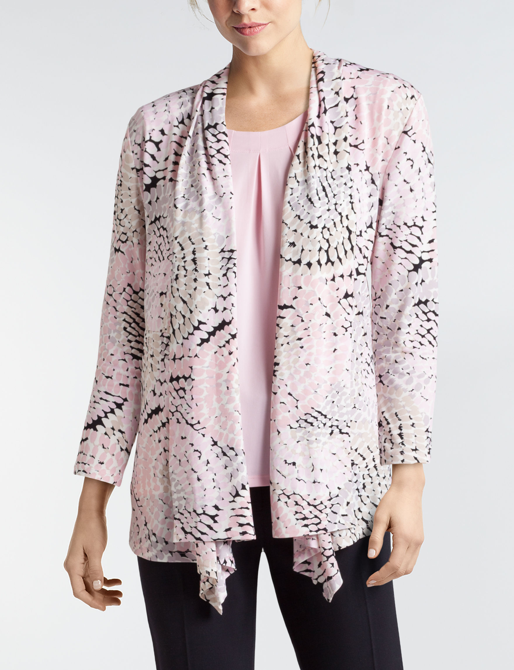 Kasper Pink Multi Cardigans
