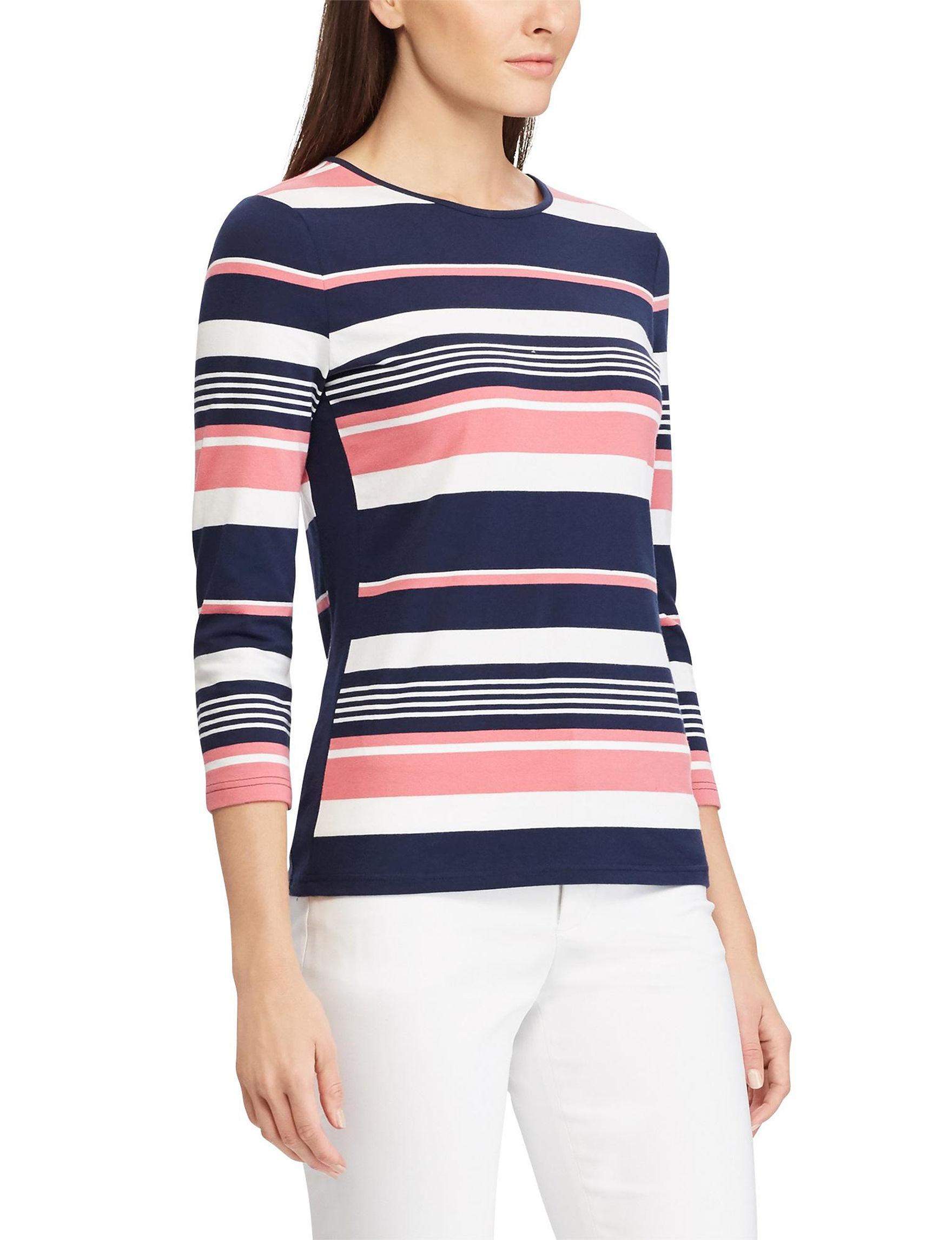 Chaps Pink Multi Shirts & Blouses