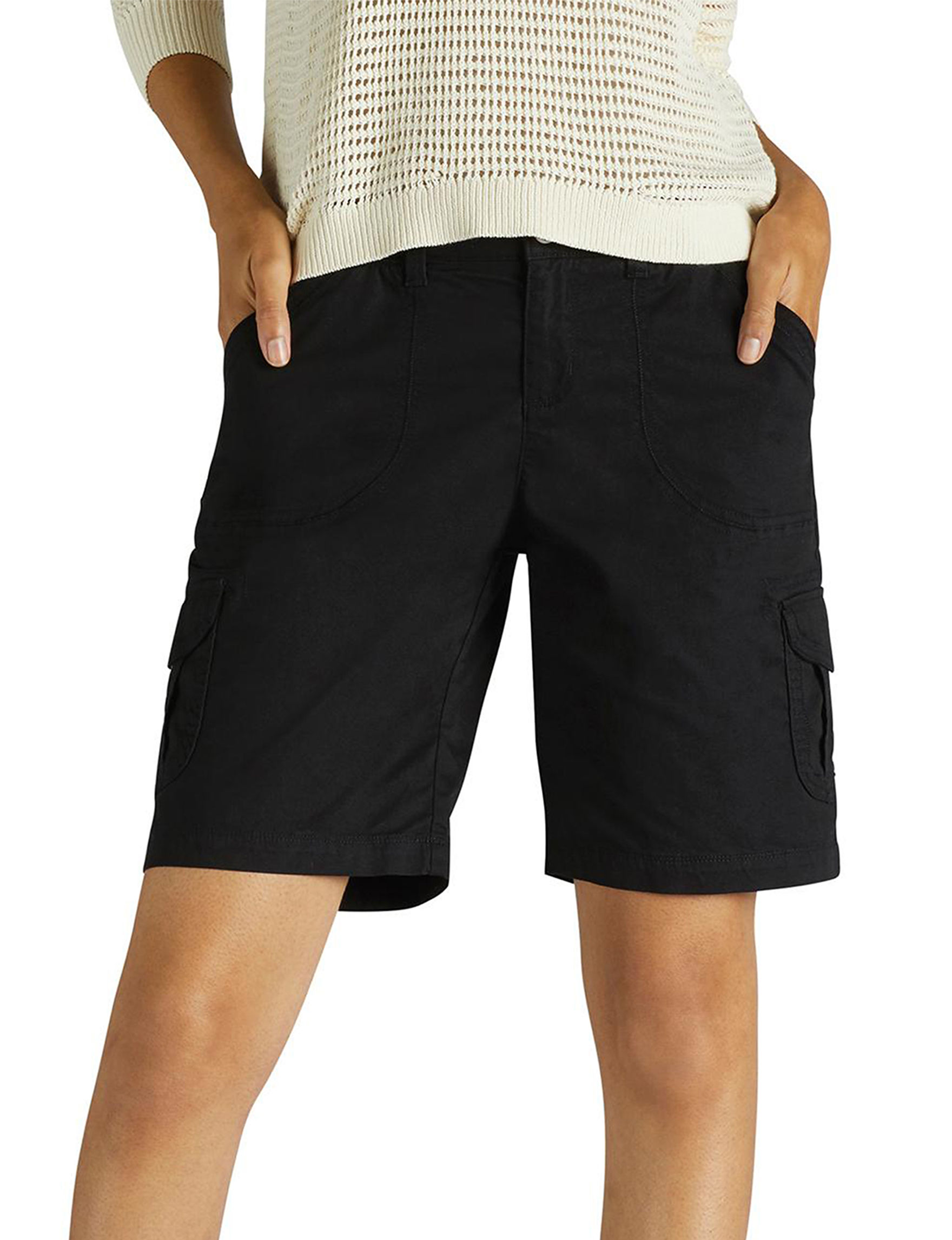 Lee Black Bermudas Relaxed